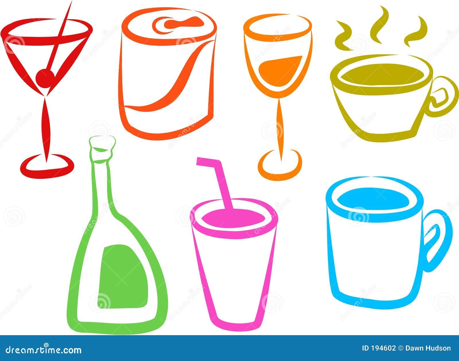 Ícones da bebida