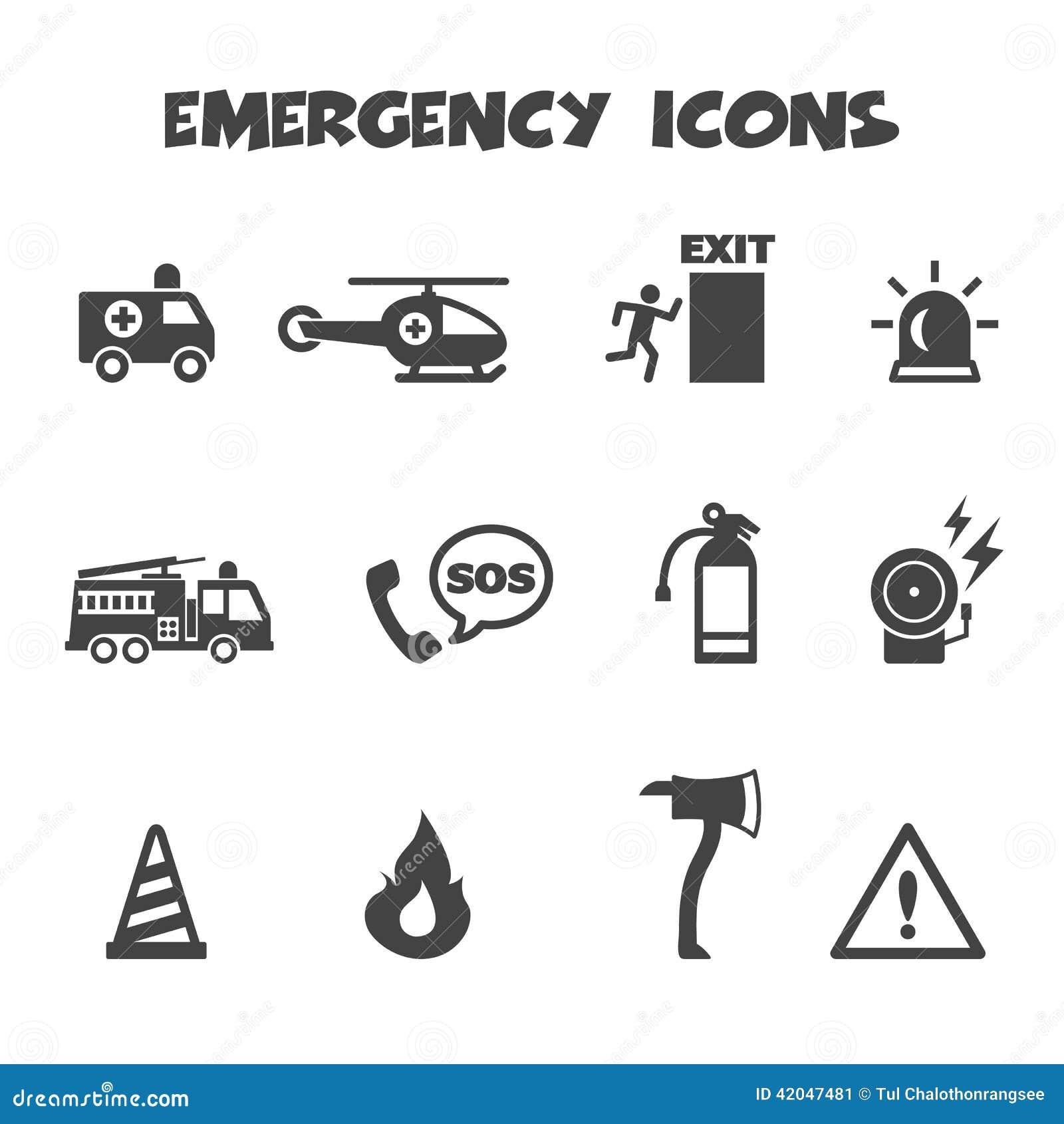 Ícones da emergência