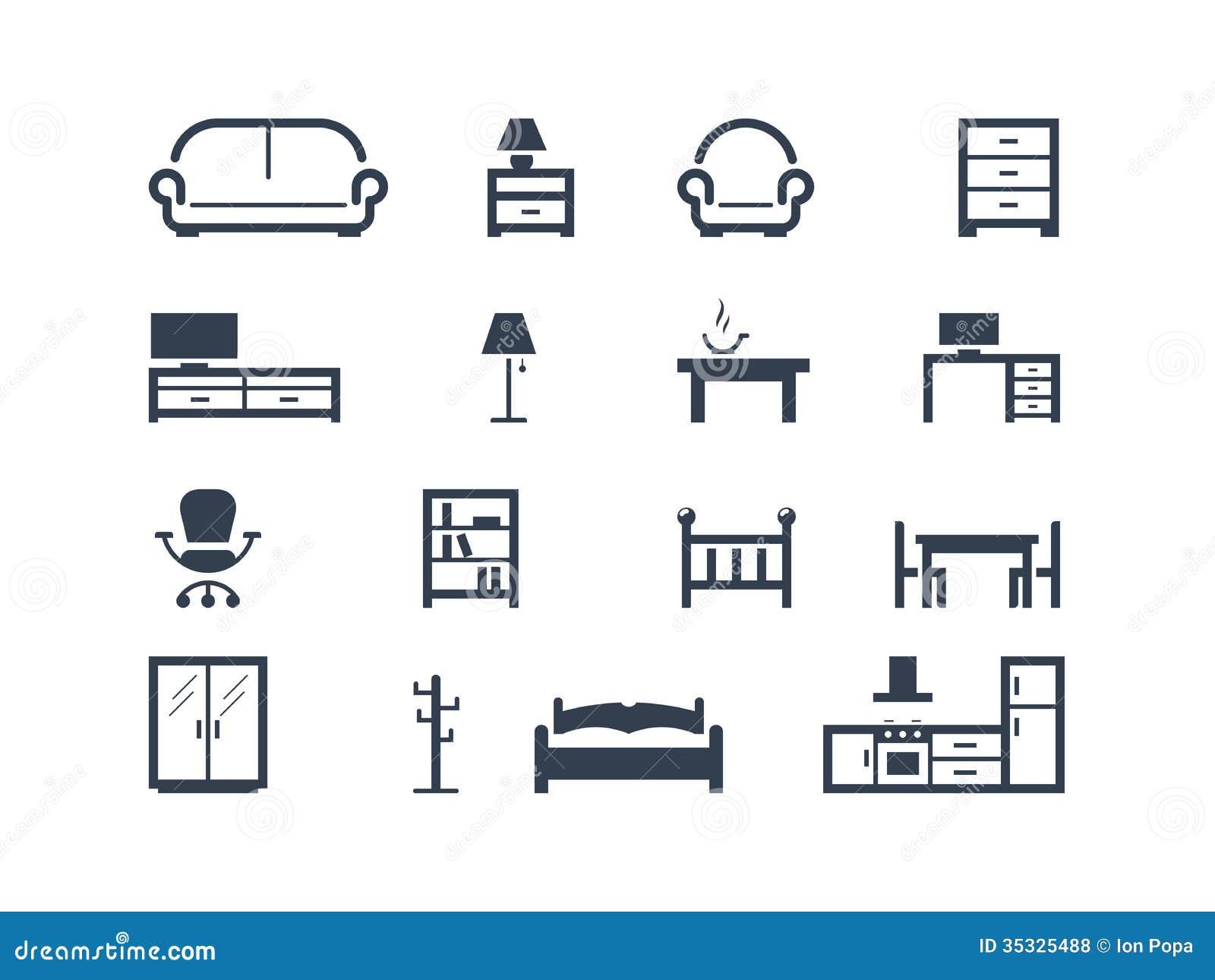 Ícones da mobília