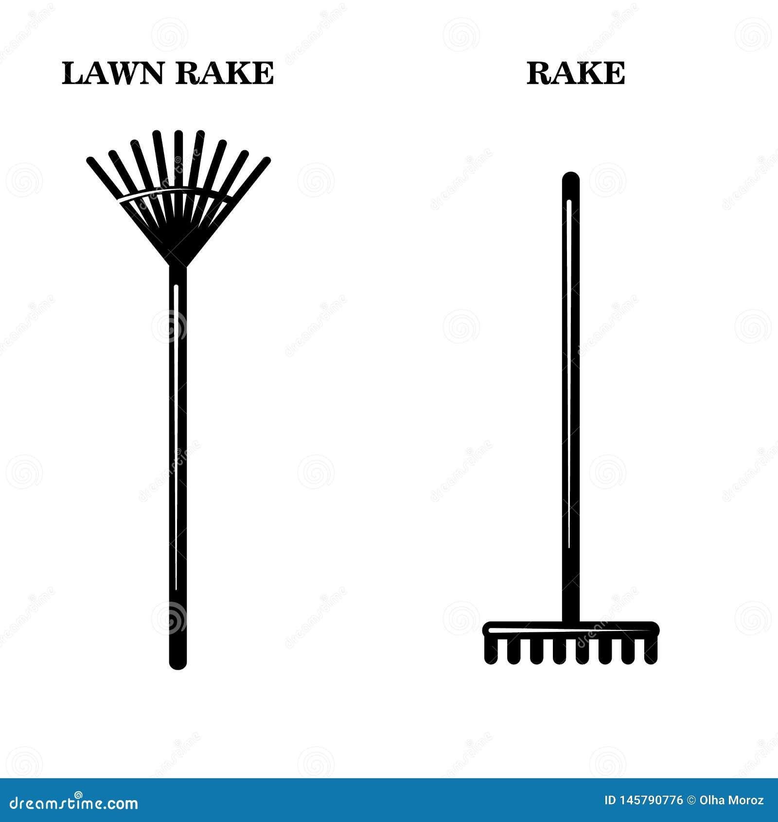 Ícones das ferramentas dos jardineiro Ilustração simples de dois vetores