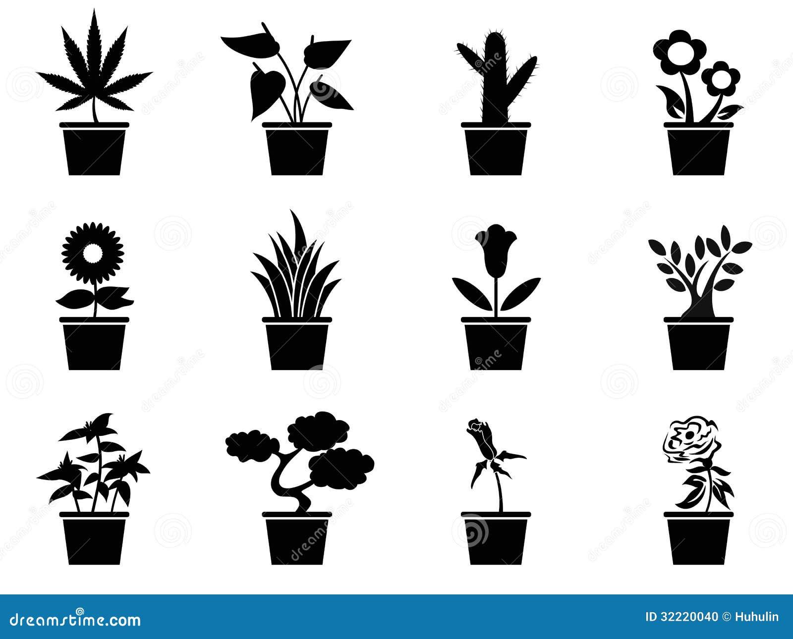 Ícones das plantas de potenciômetro ajustados