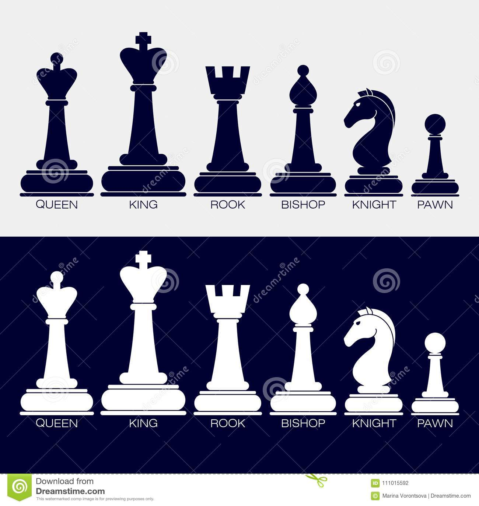 Ícones de partes de xadrez