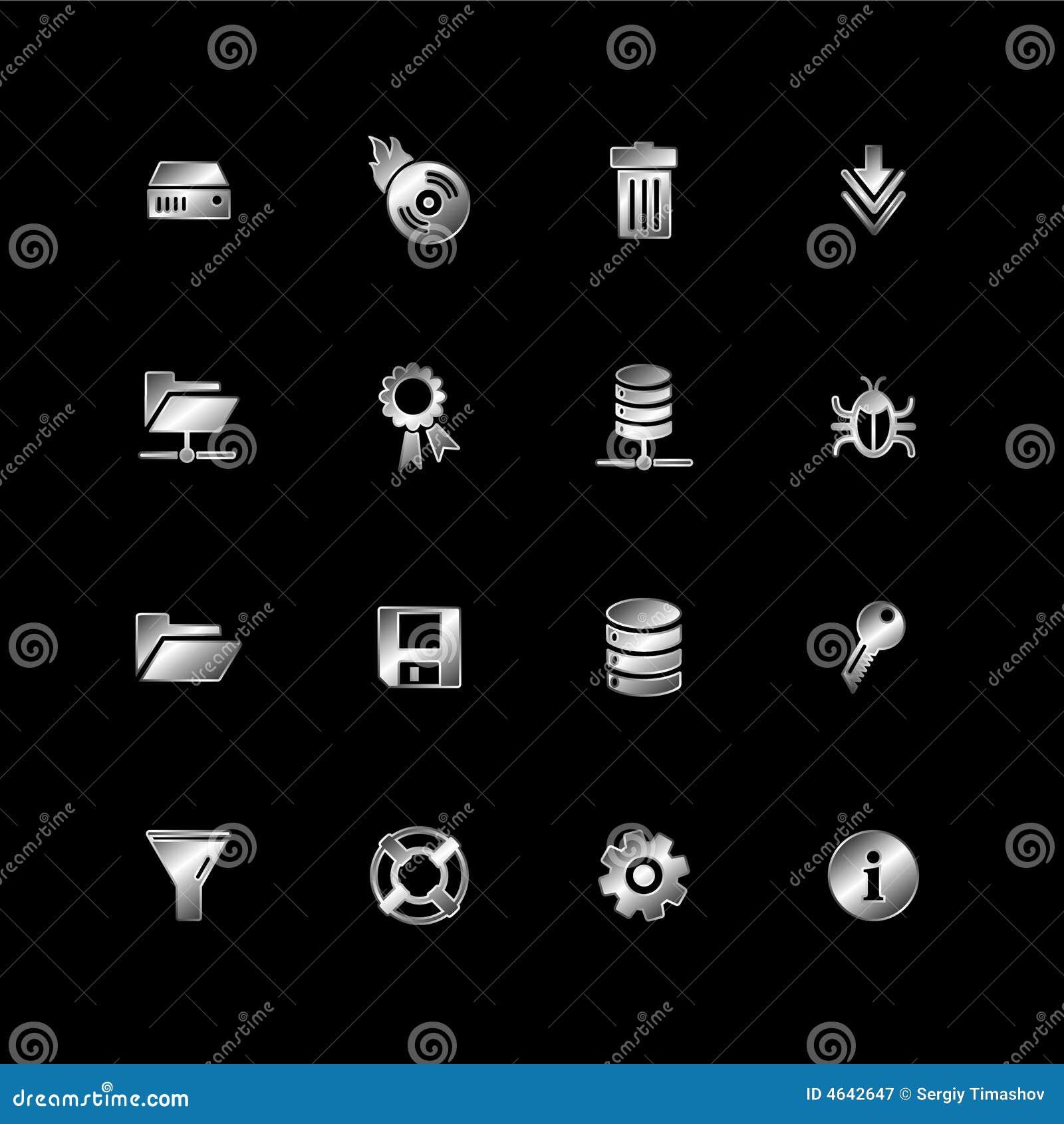 Ícones de prata do server