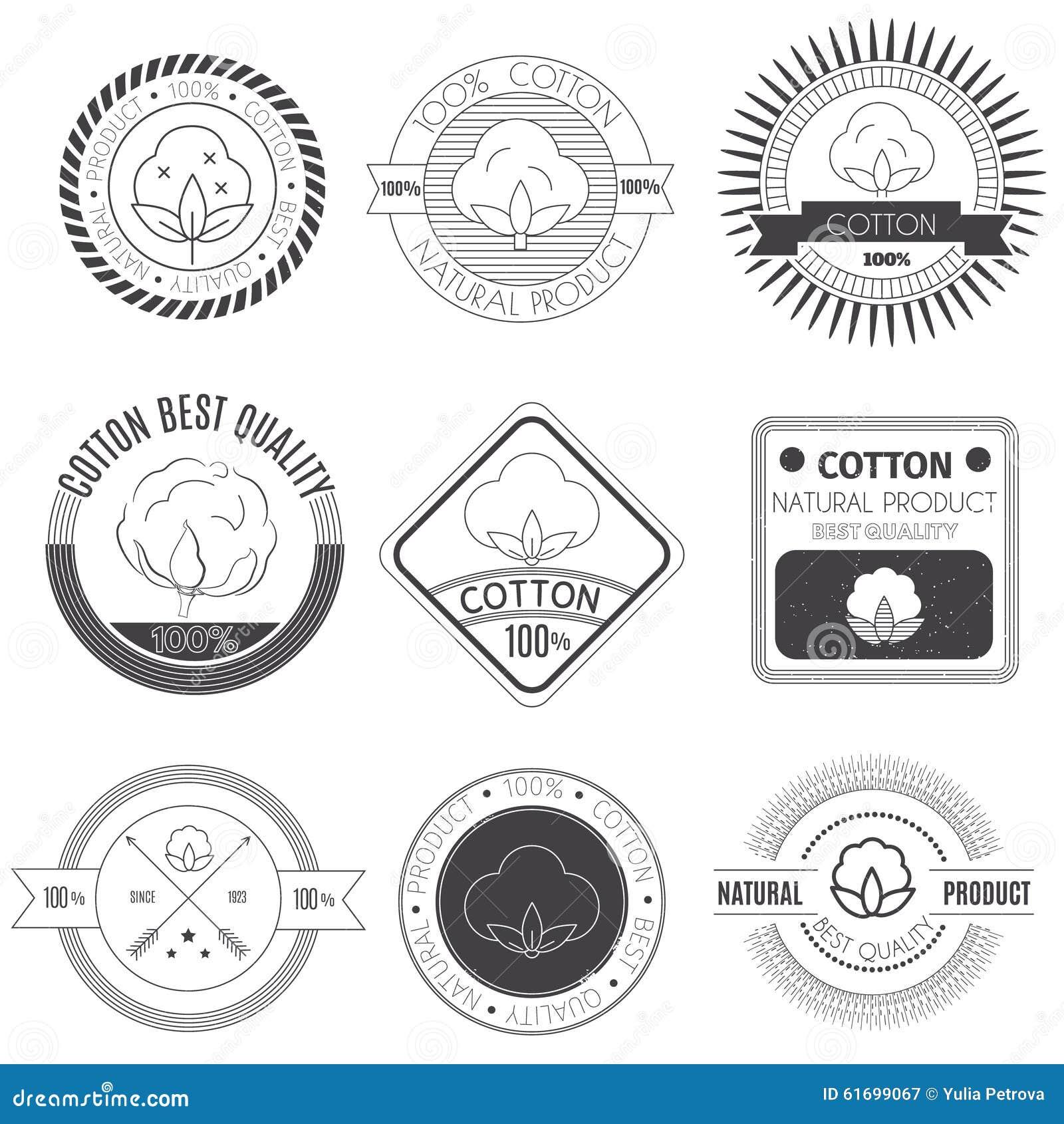 Ícones do algodão ajustados