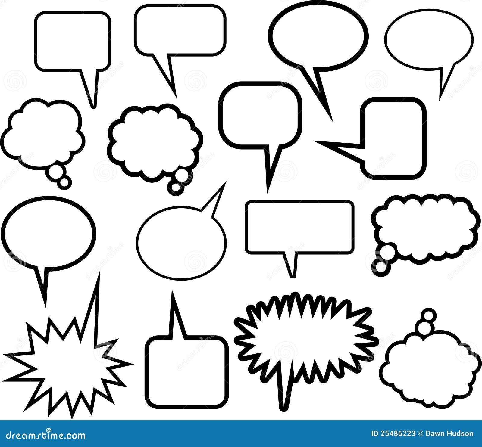 Ícones do balão da palavra