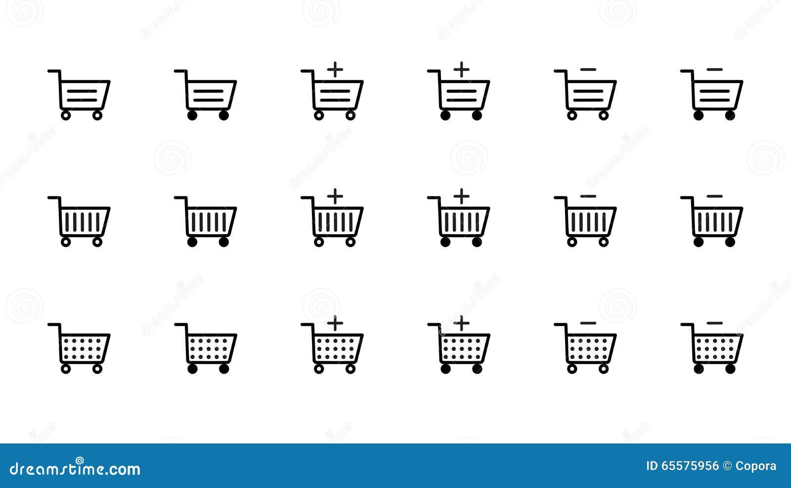 Ícones do carrinho de compras