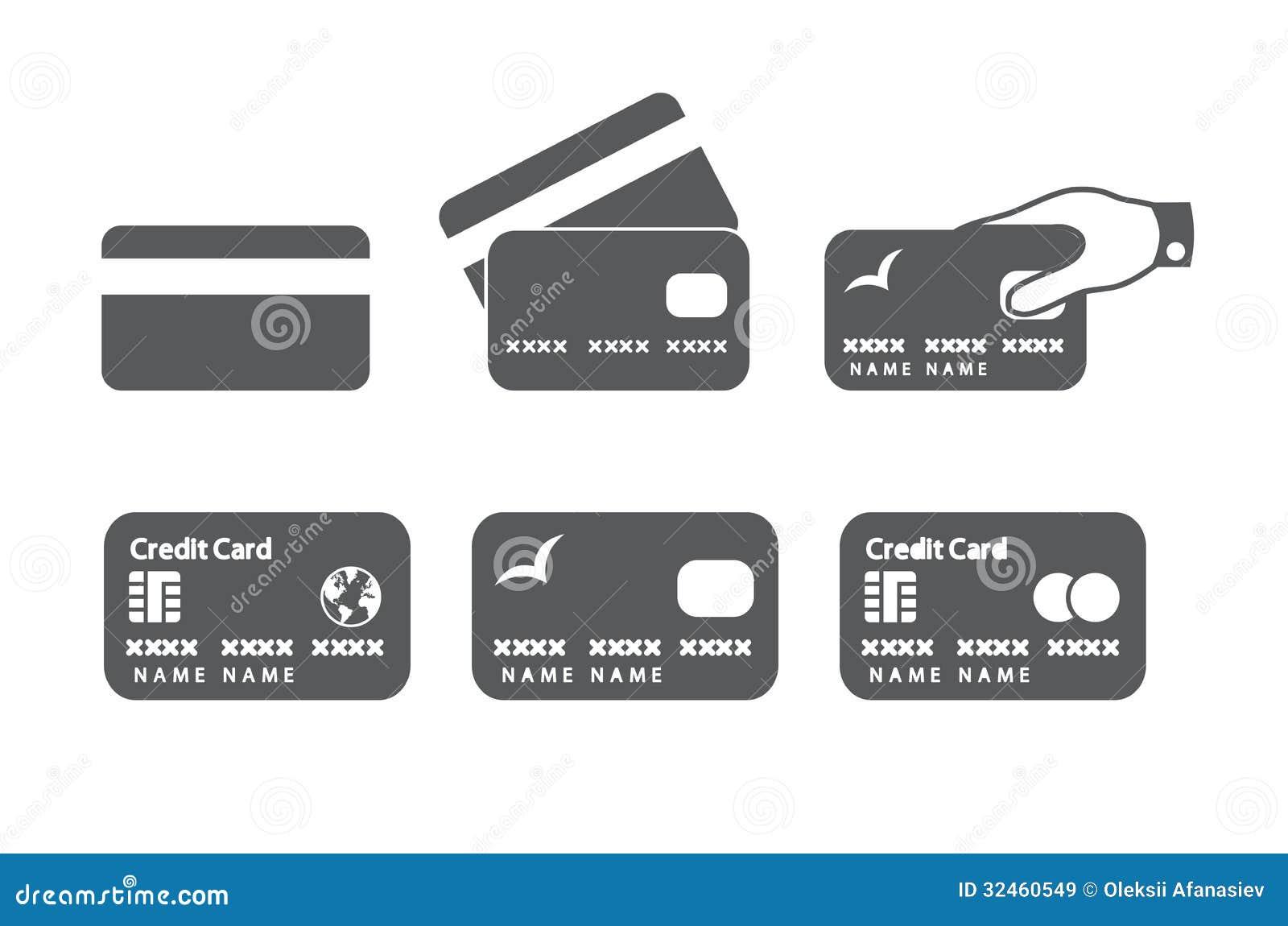 Ícones do cartão de crédito