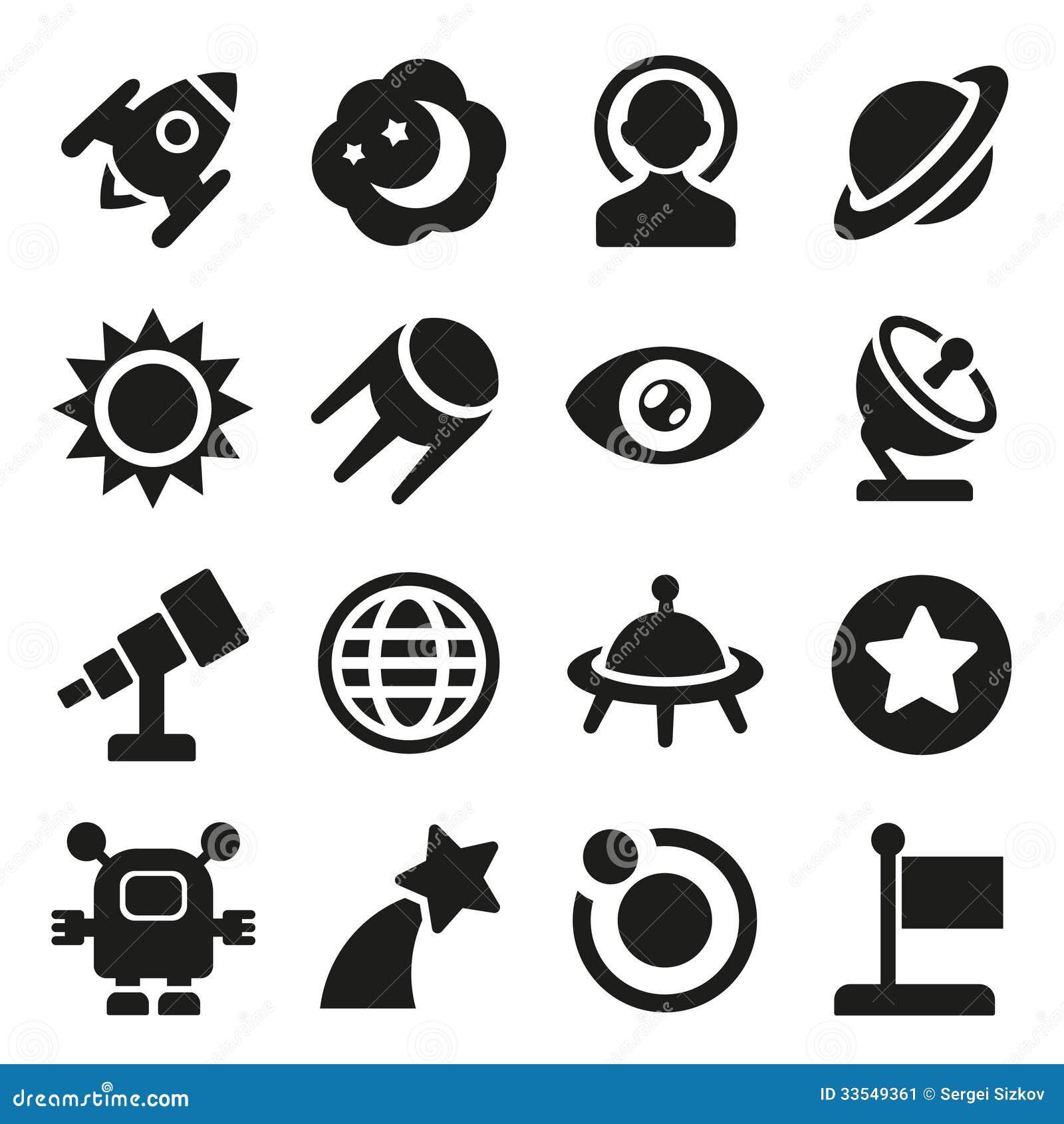 Ícones do espaço ajustados