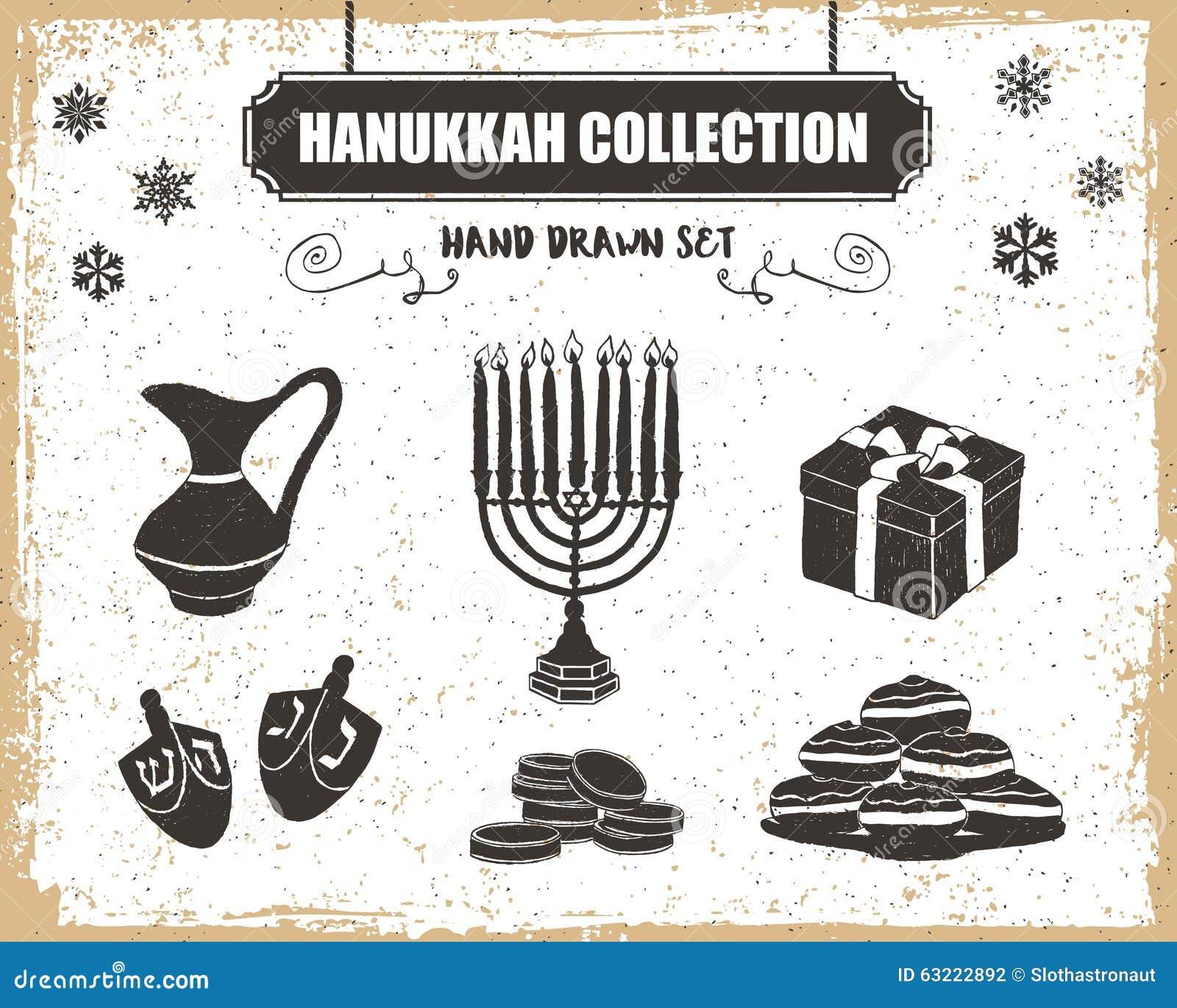 Ícones do Hanukkah ajustados