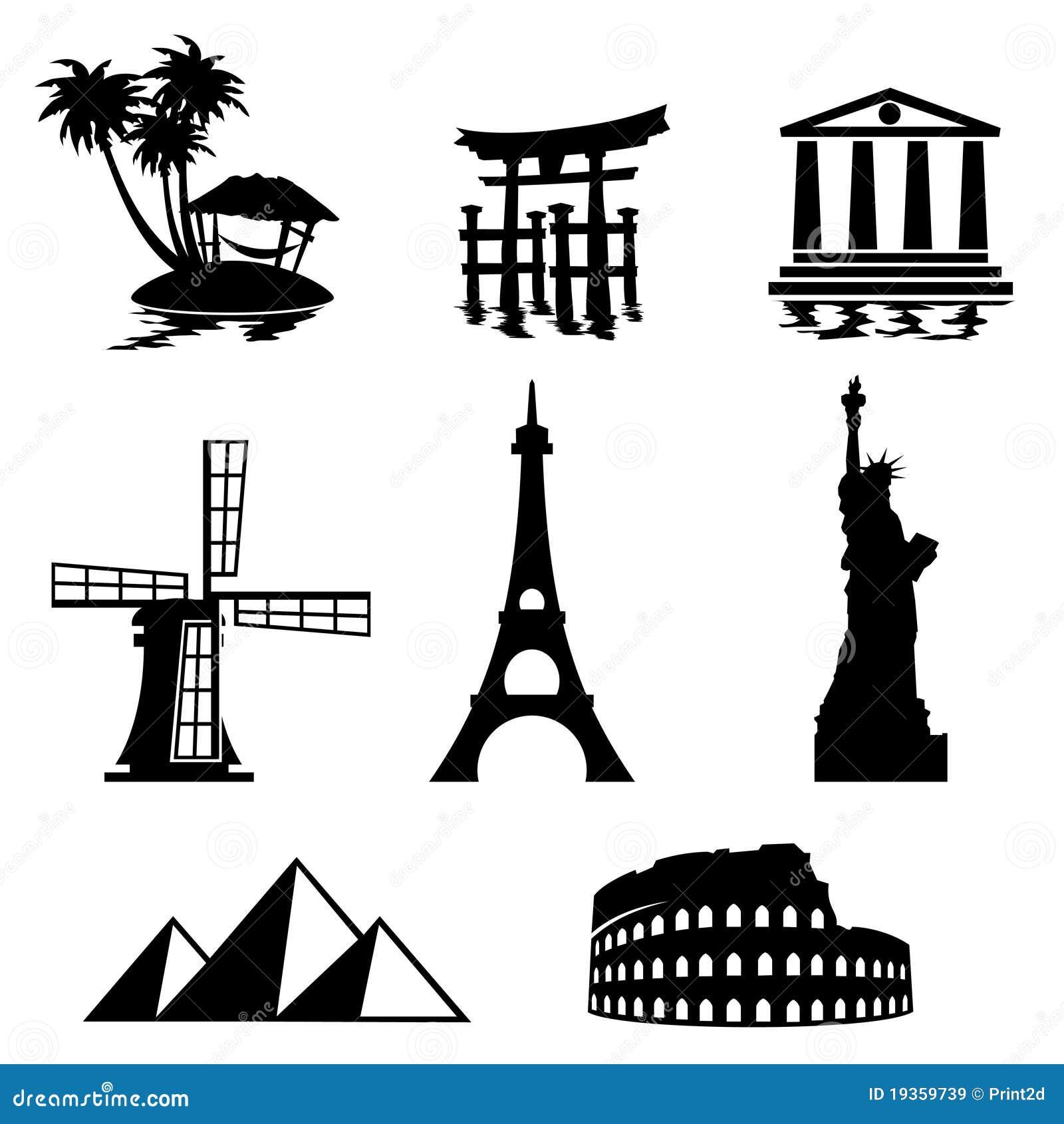 Ícones do marco