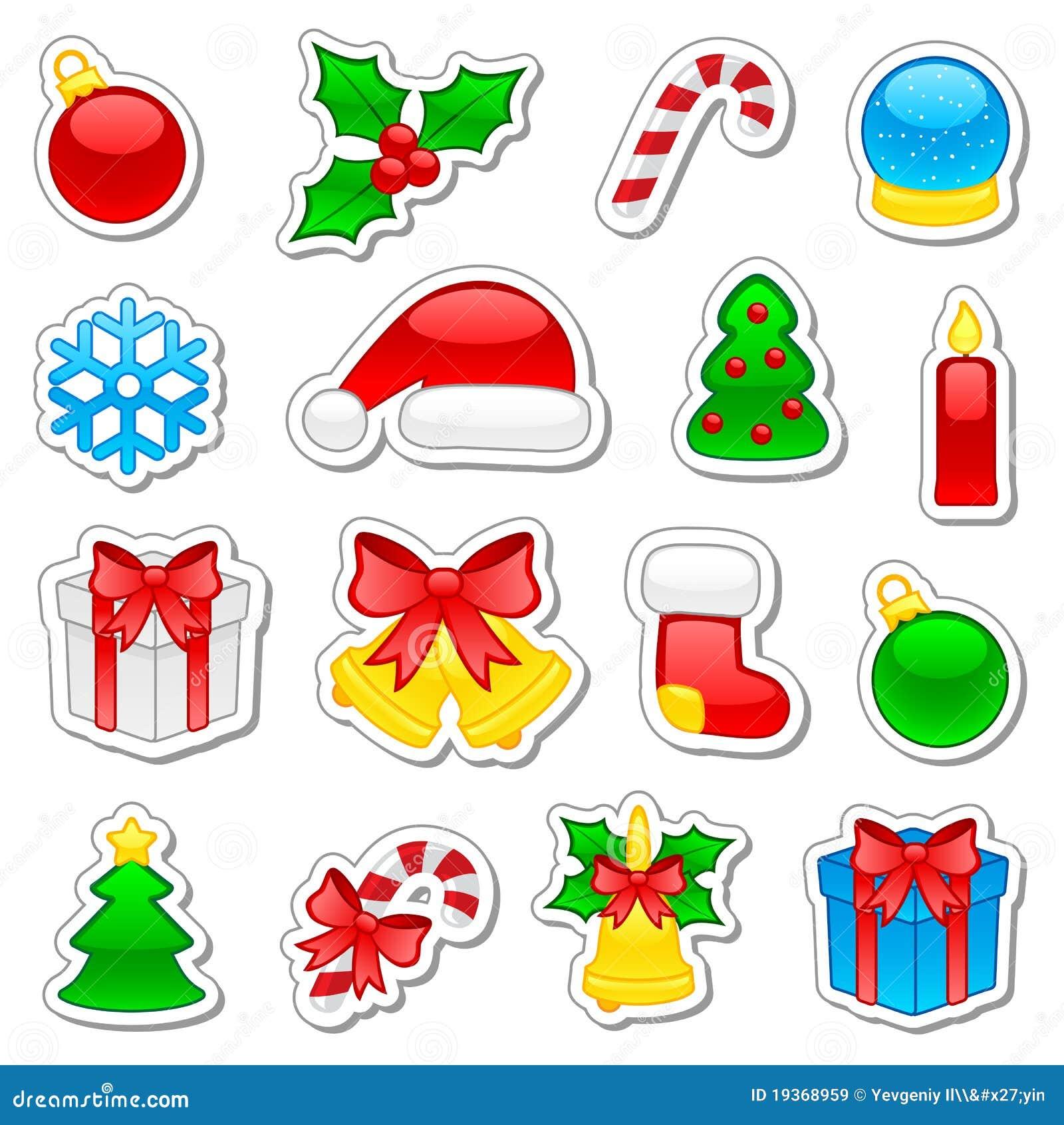 Ícones do Natal ajustados