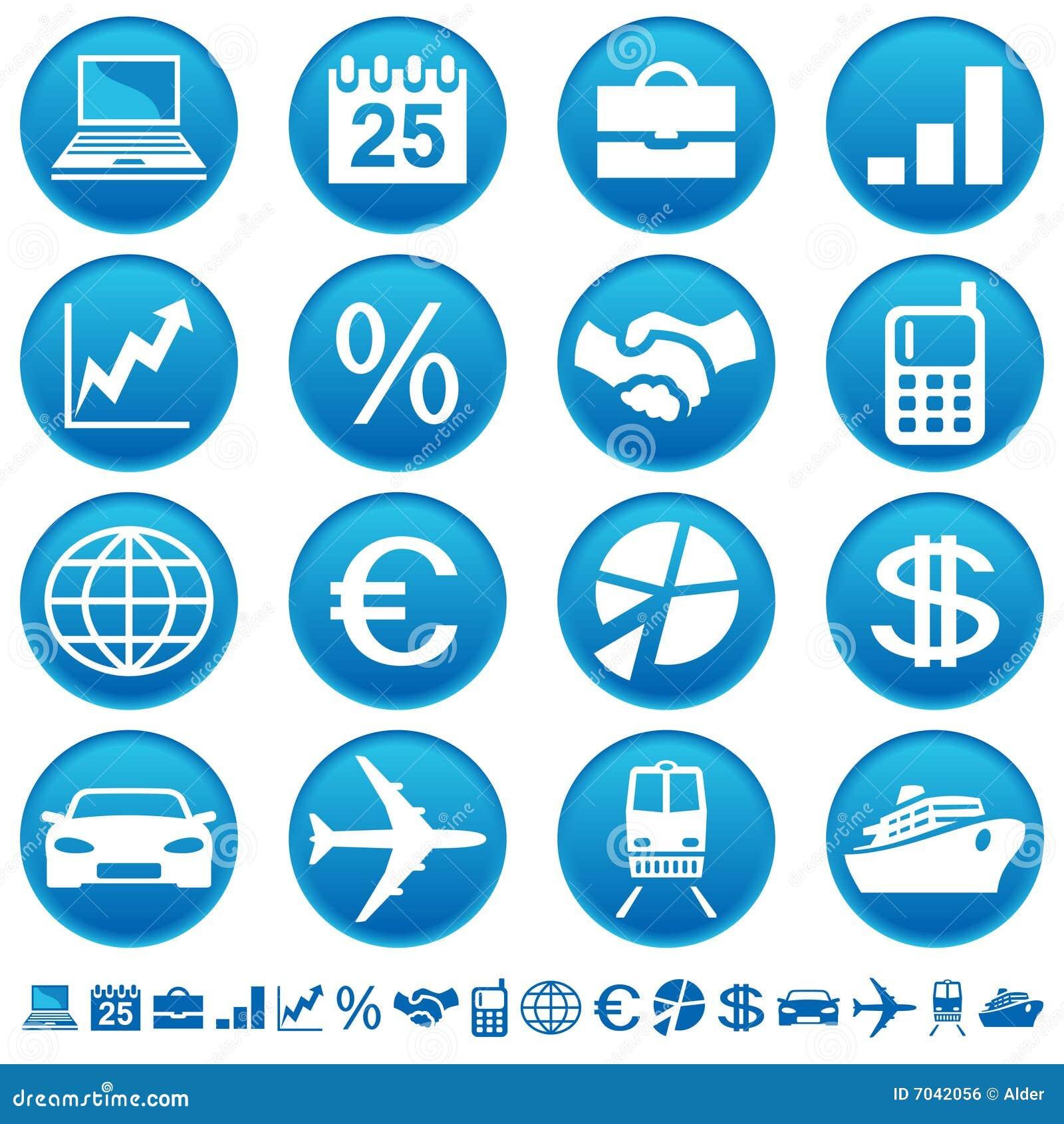 Ícones do negócio & do transporte