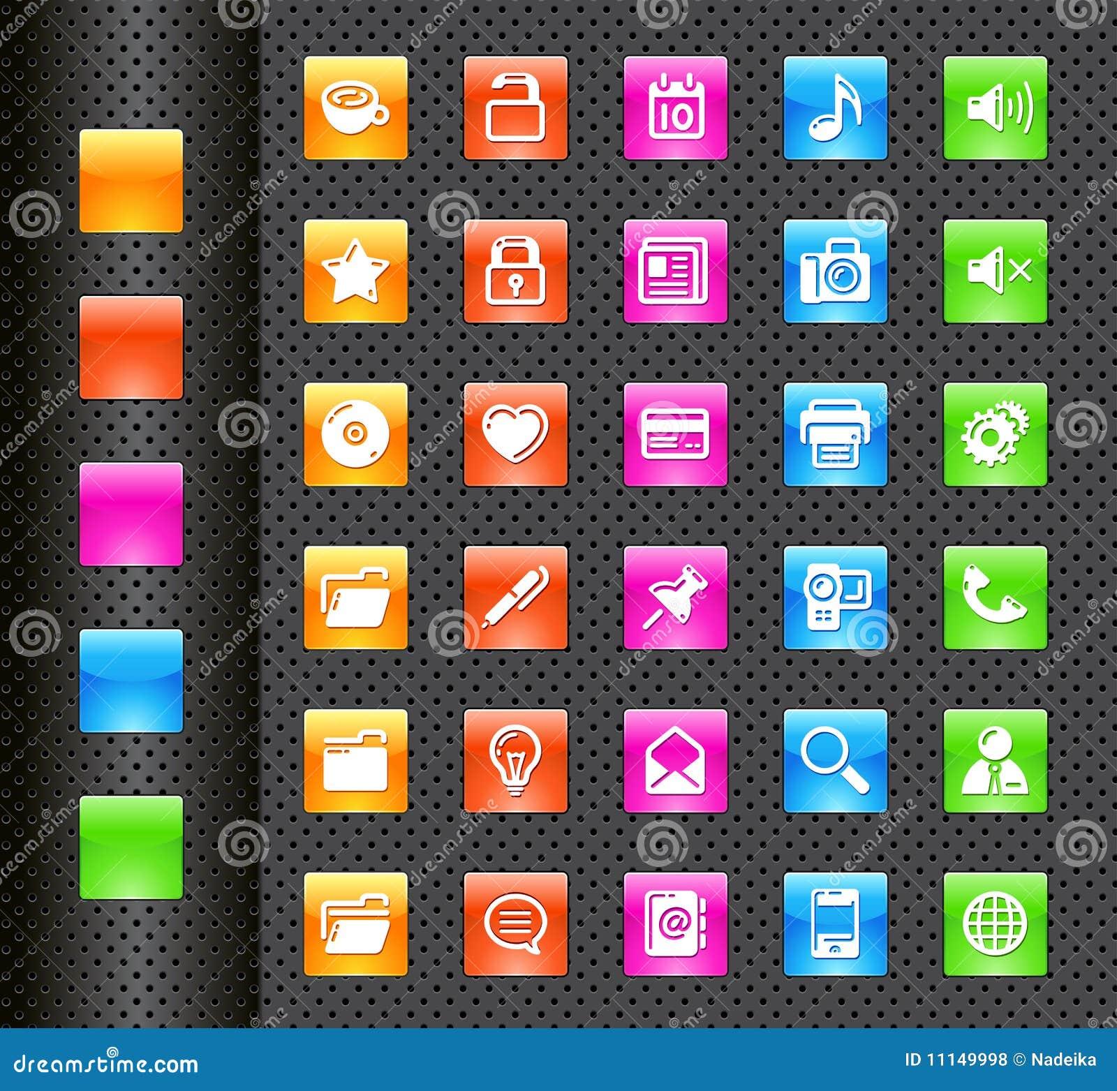 Ícones do telefone móvel
