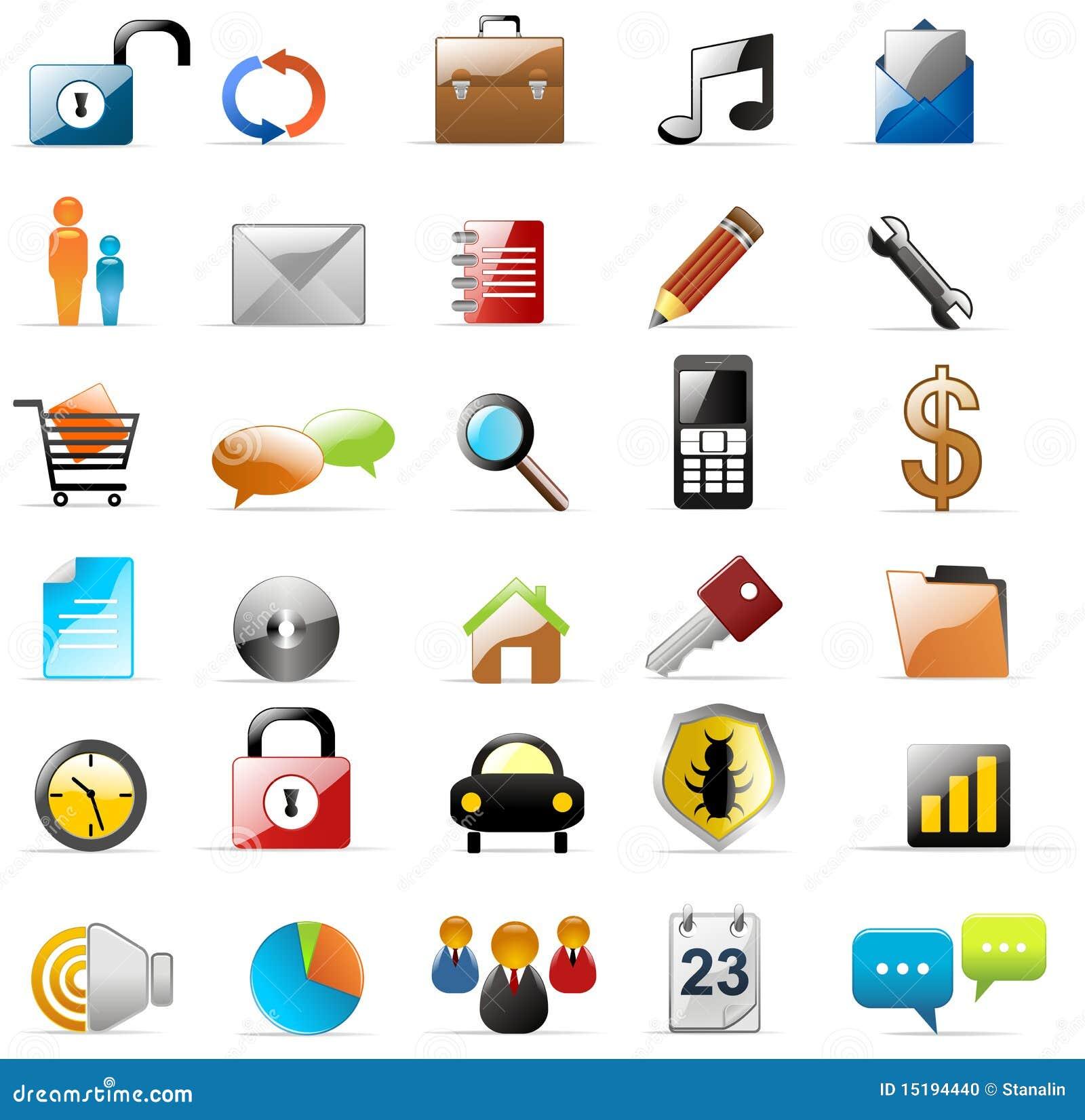 Ícones do Web e dos multimédios