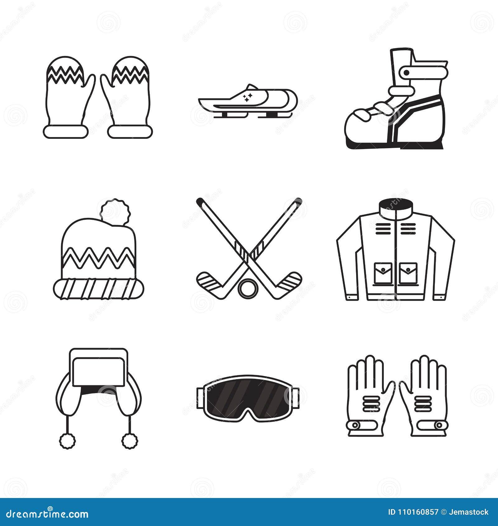 Ícones dos esportes de inverno