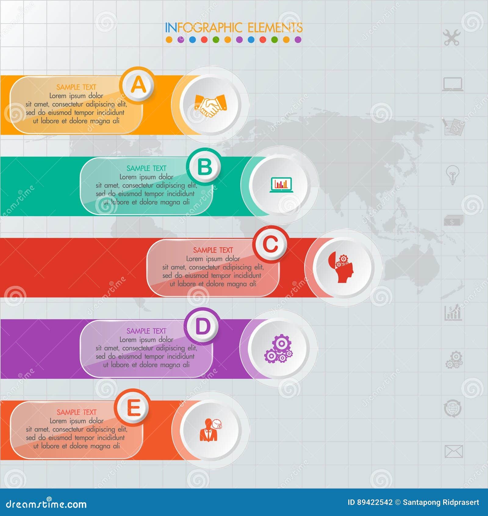 Ícones e Busi do mercado do projeto e do molde de Infographic
