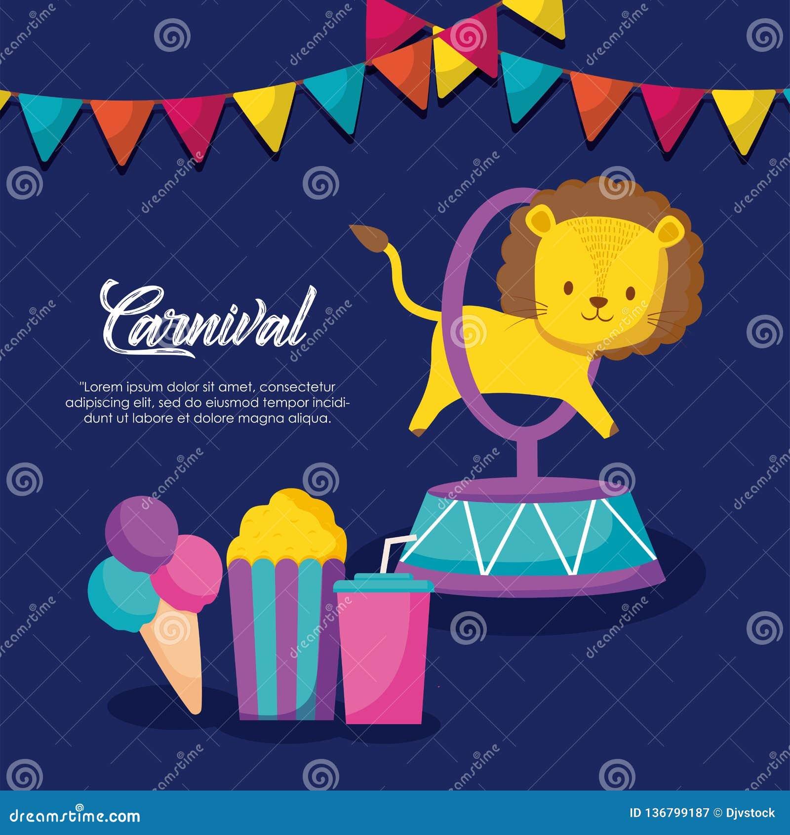 Ícones infographic da celebração do carnaval