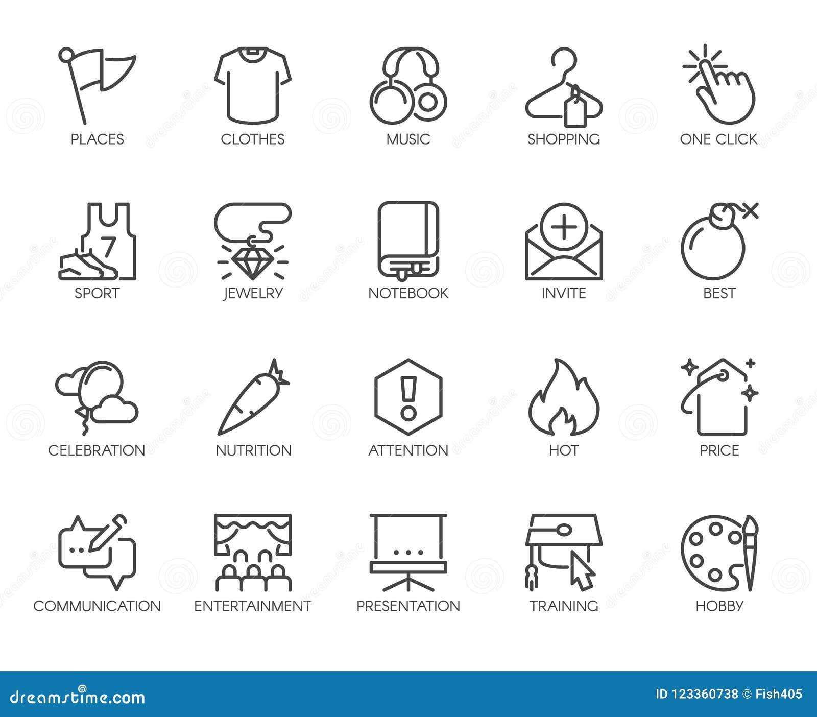 ffb35ab20 20 ícones Lineares Em Esportes