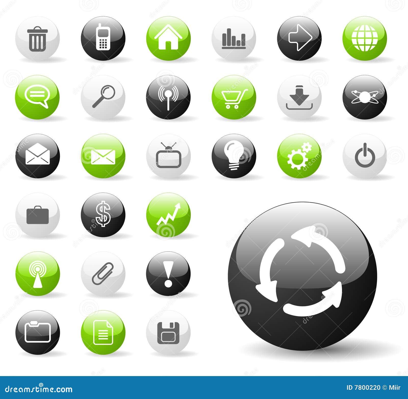 Ícones lustrosos da aplicação