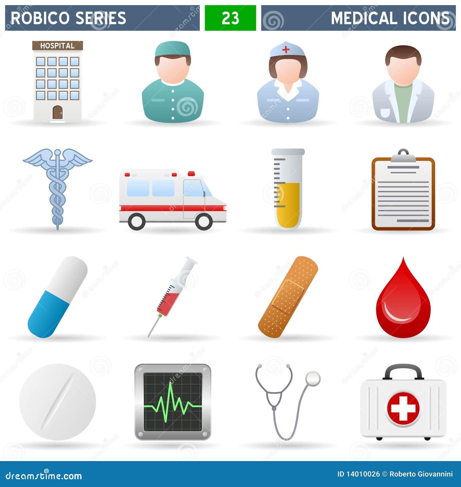 Ícones médicos - série de Robico
