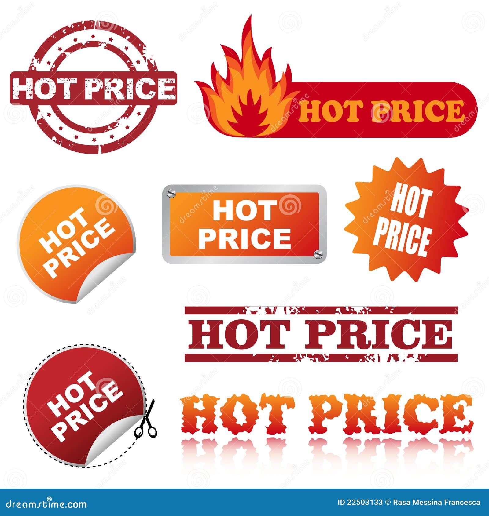 Ícones quentes do preço