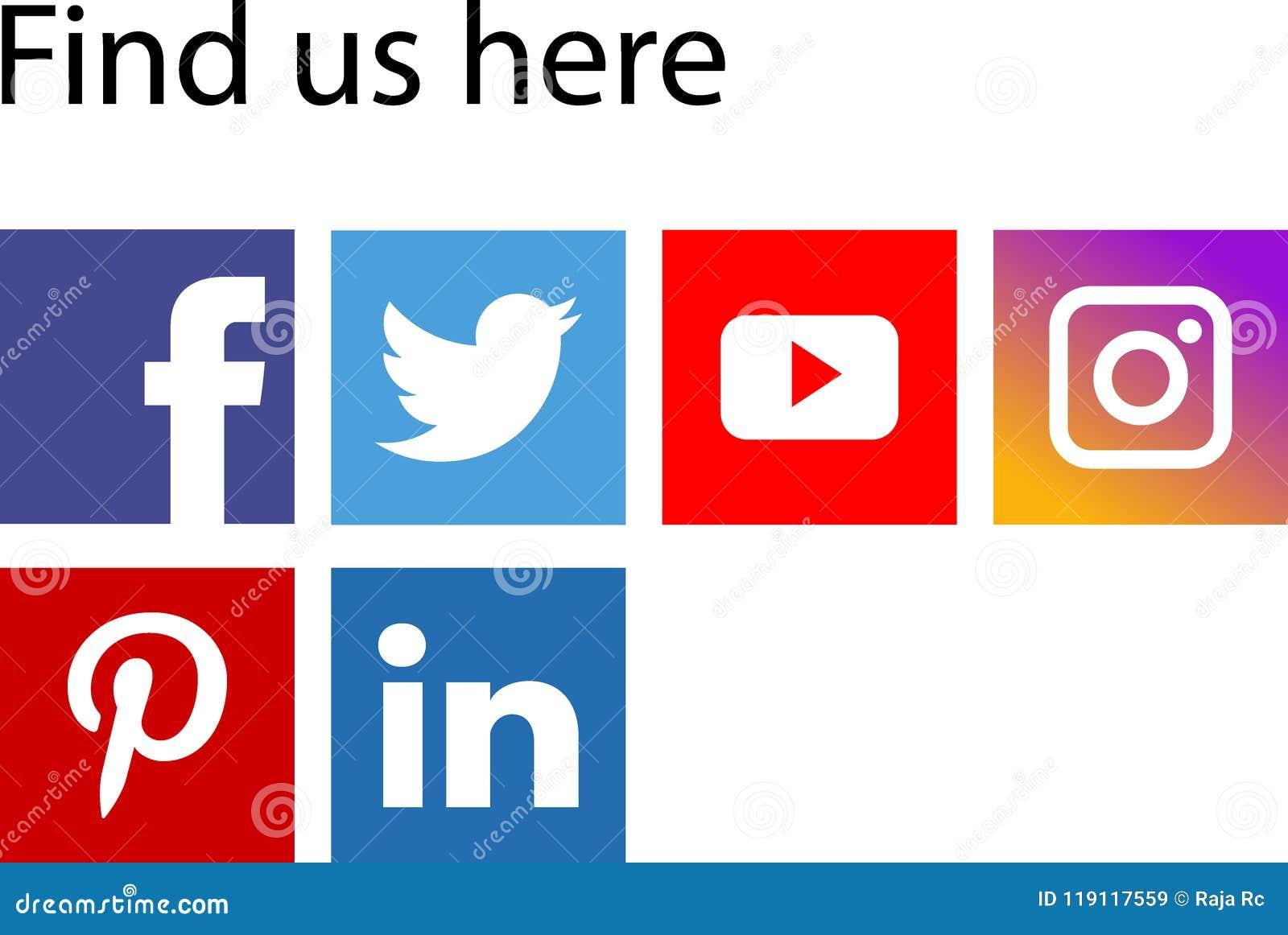 Ícones sociais dos meios