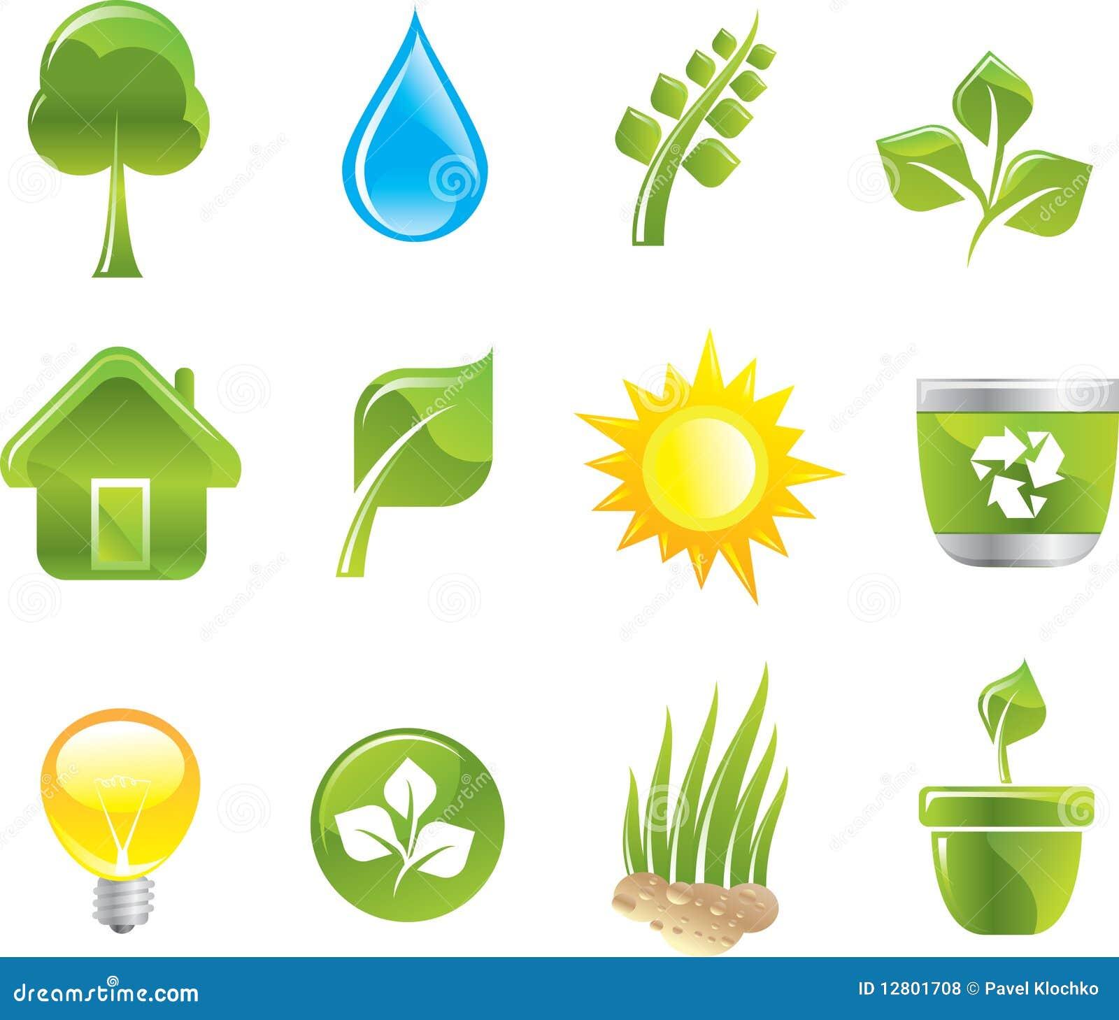Ícones verdes ajustados