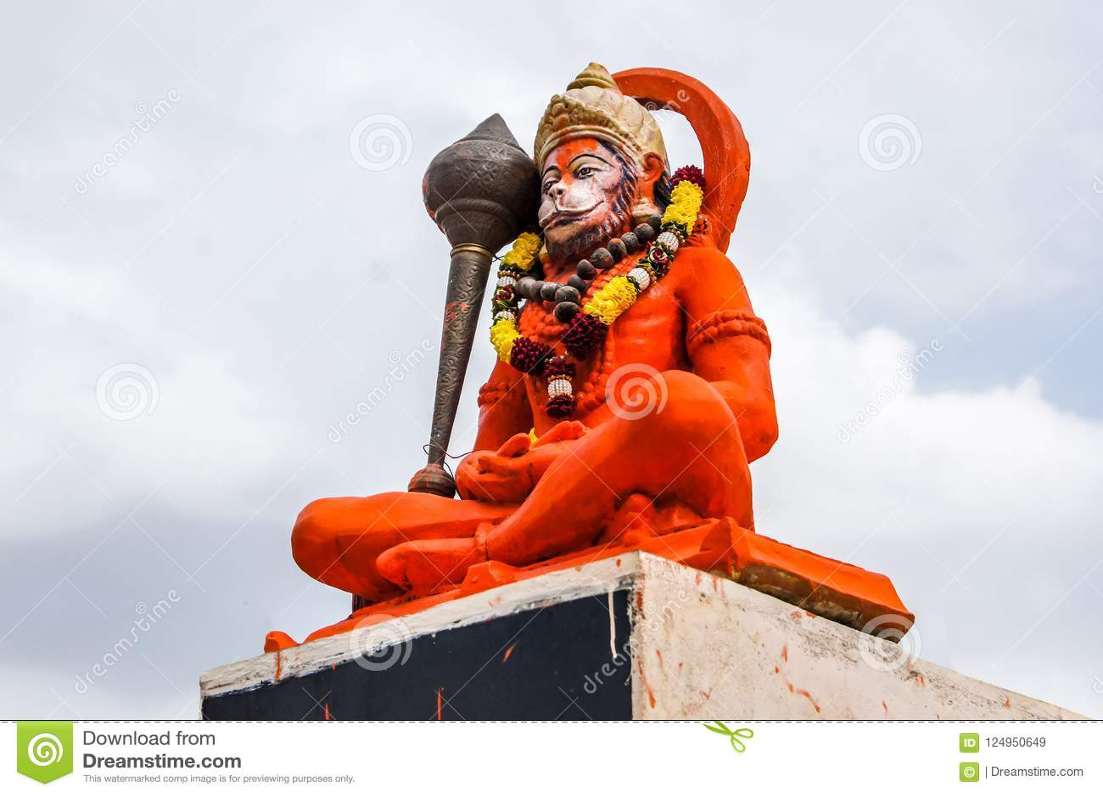 Ídolo hindu de Hanuman do deus, estátua enorme do senhor indiano Hanuman