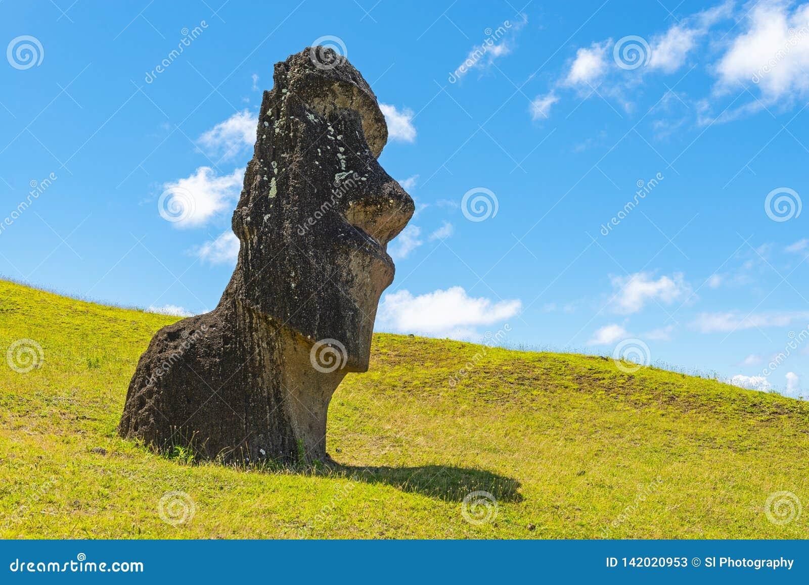 Άγαλμα Moai σε Rano Raraku, νησί Πάσχας, Χιλή