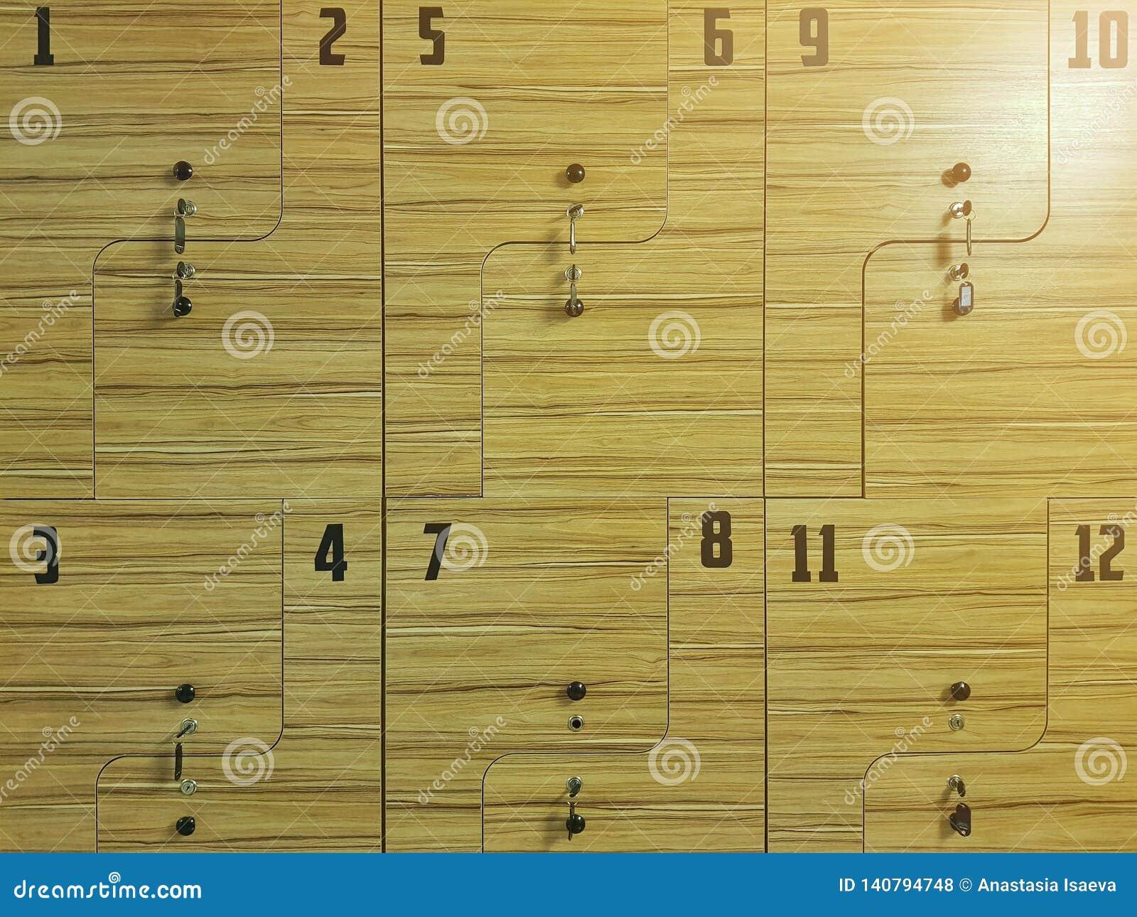 Αθλητικό ντουλάπι Ντουλάπι ικανότητας κλείστε επάνω
