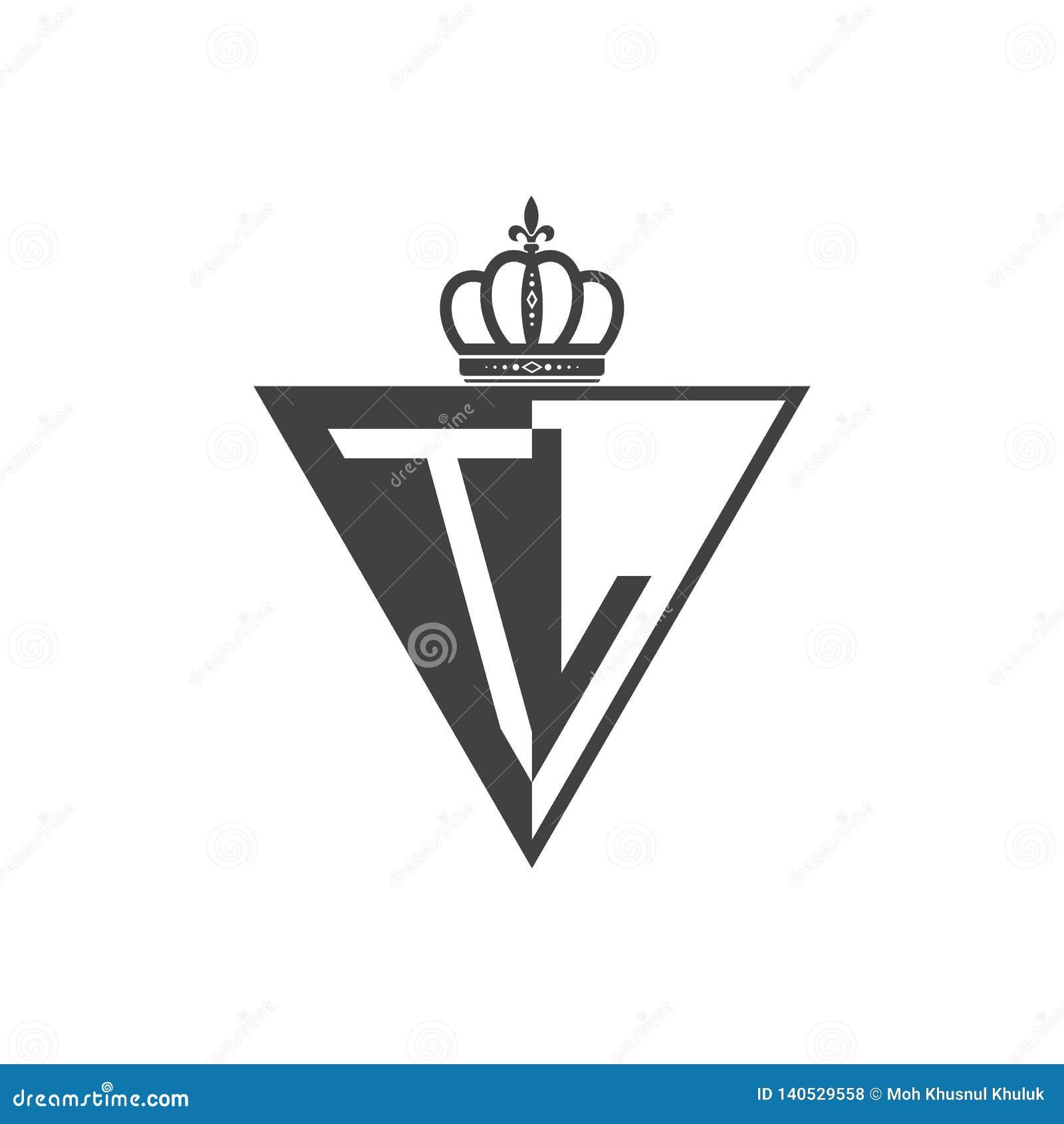 Αρχικά δύο TL ο μισός Μαύρος επιστολών τριγώνων λογότυπων