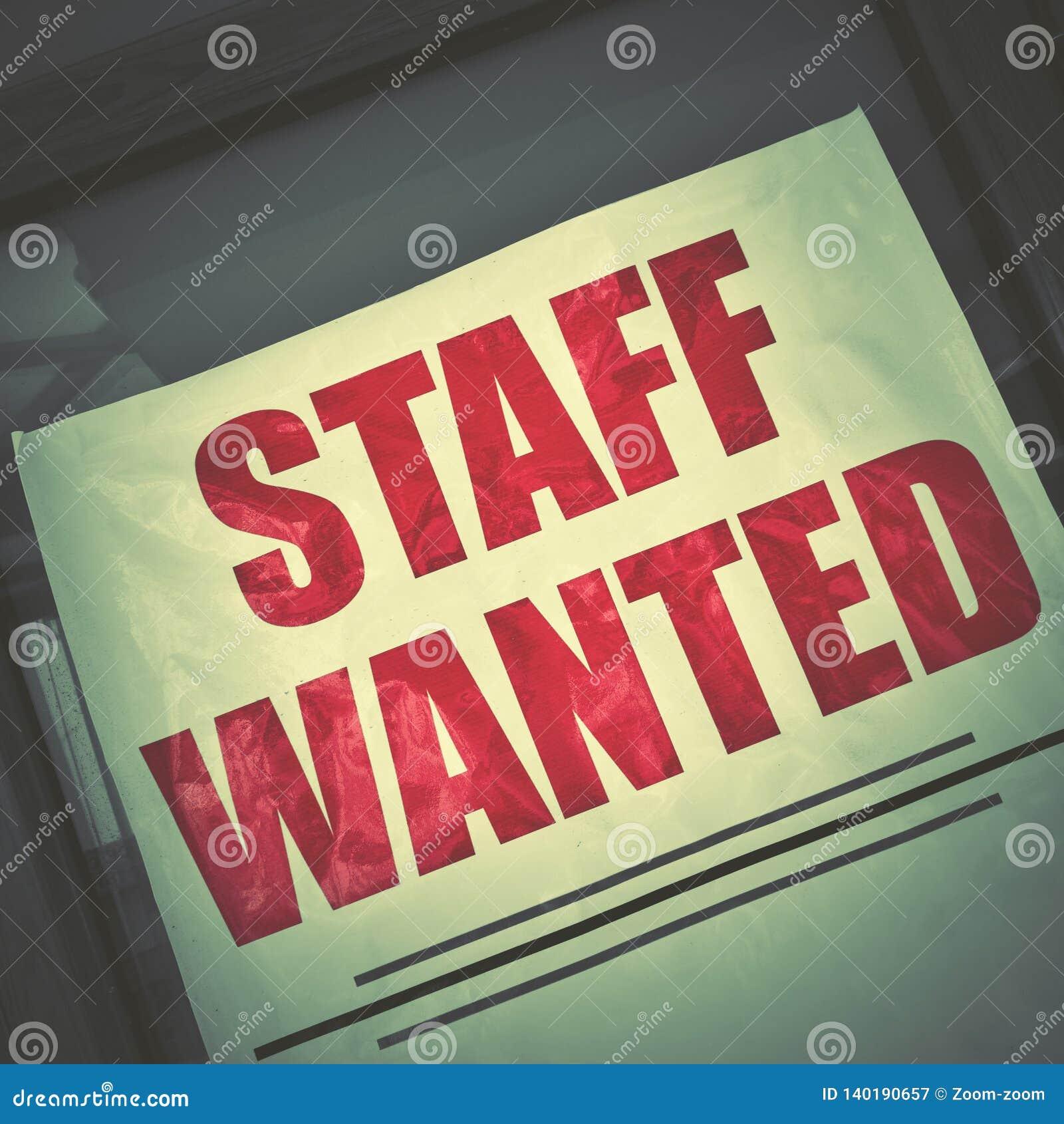 Αφίσα κενής θέσης εργασίας