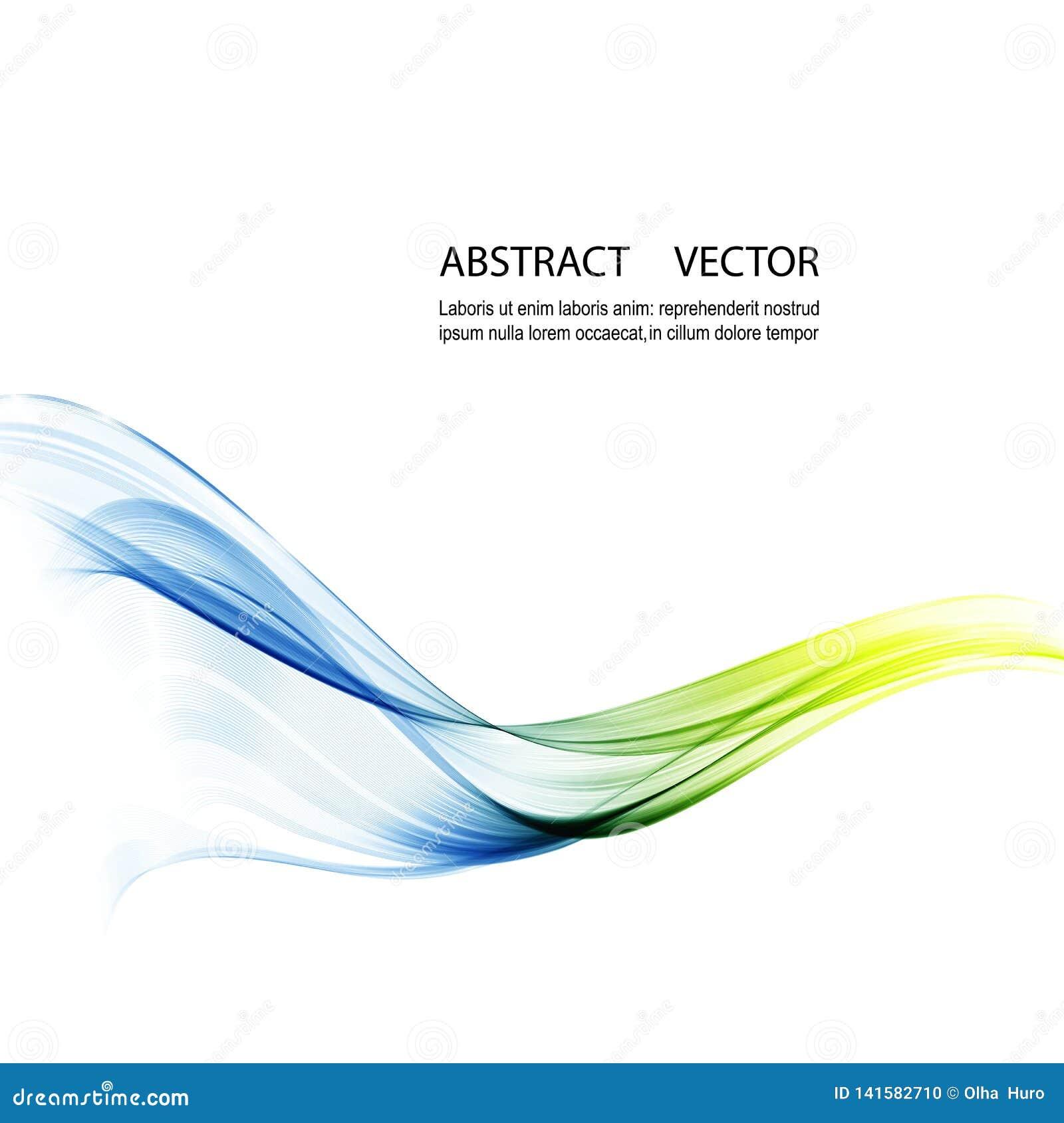 Αφηρημένο διανυσματικό υπόβαθρο, μπλε και πράσινες κυματισμένες γραμμές για το φυλλάδιο, ιστοχώρος, σχέδιο ιπτάμενων