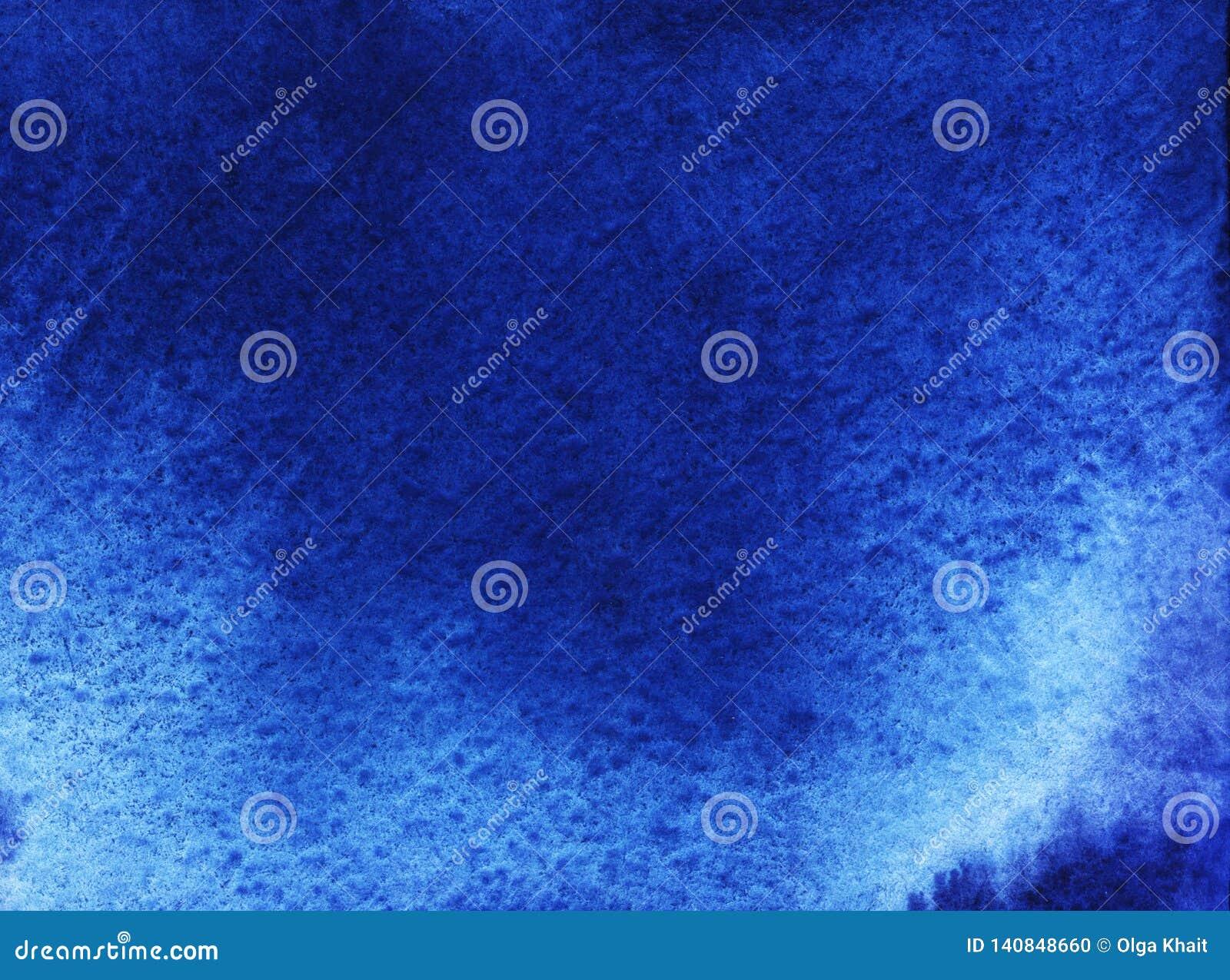 Αφηρημένο υπόβαθρο watercolor με τους χνουδωτούς σωρείτης θάμνους Νύχτα, σκοτεινός ουρανός Hand-drawn απεικόνιση σε υγρό χαρτί