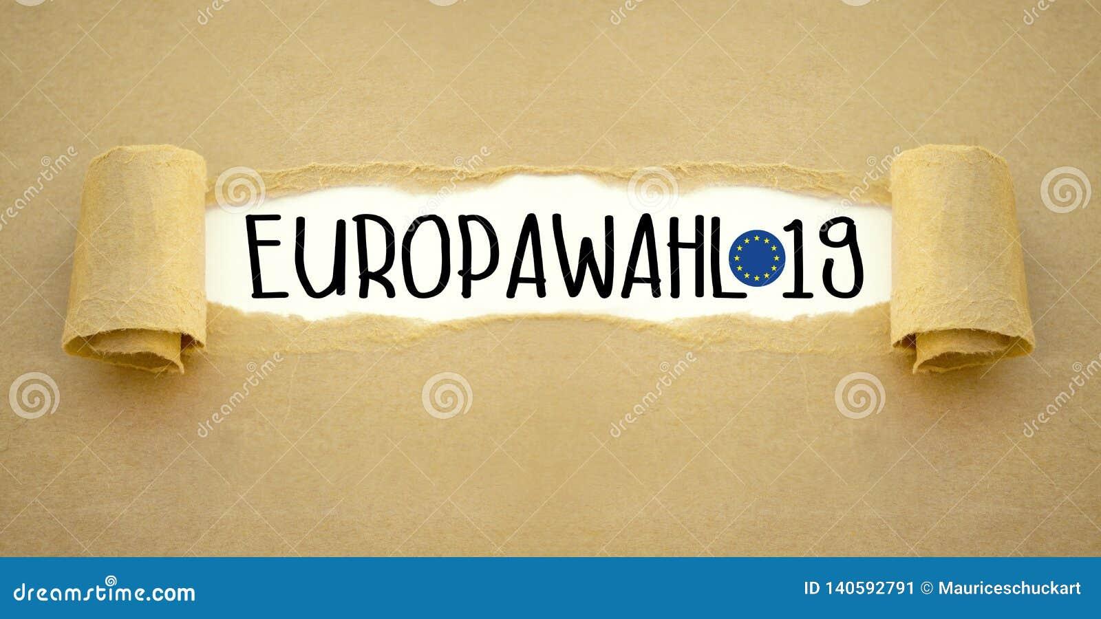 Απεικόνιση για την ευρωπαϊκή εκλογή 2019