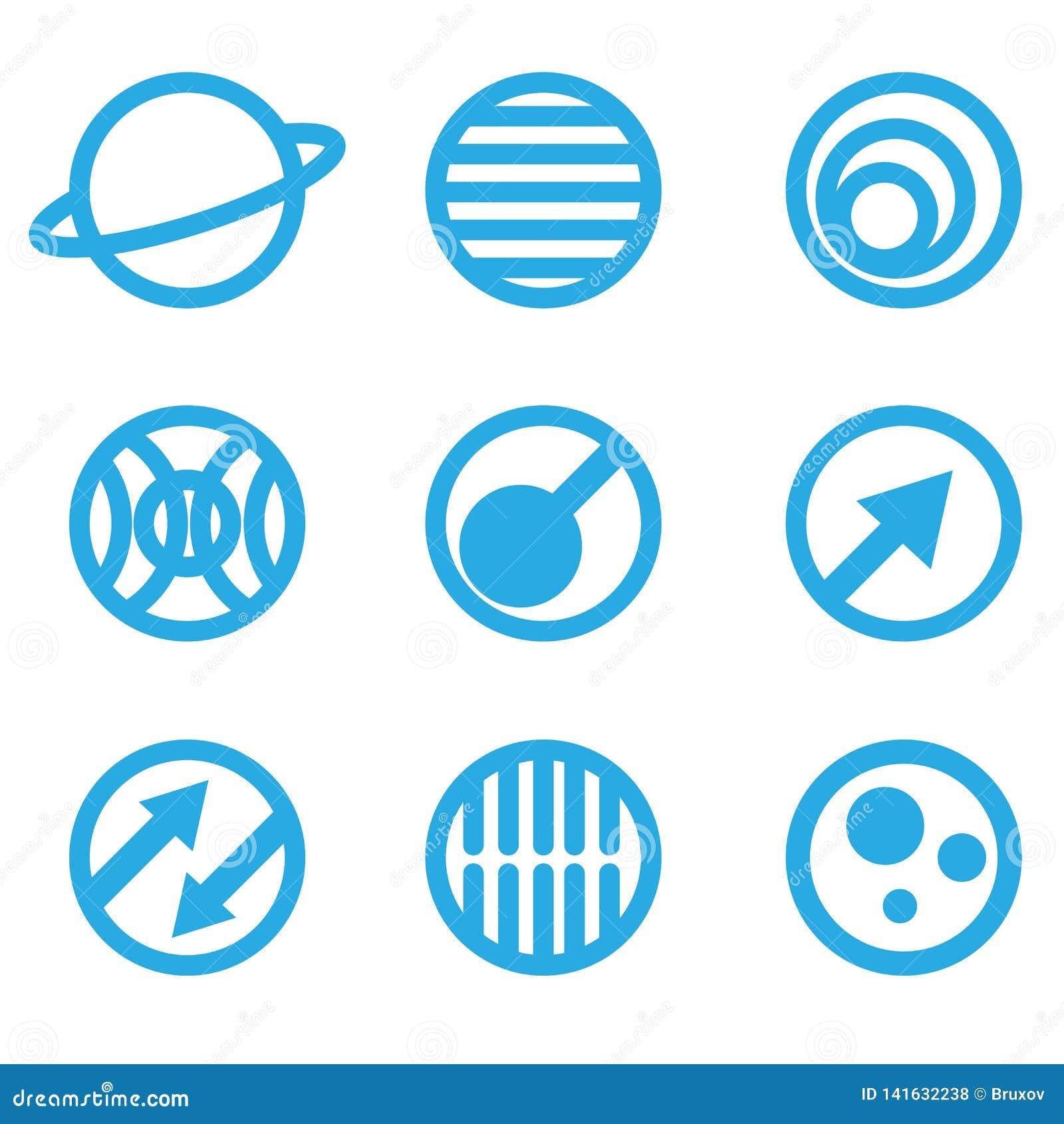 Απεικόνιση των αφηρημένων μπλε σημαδιών