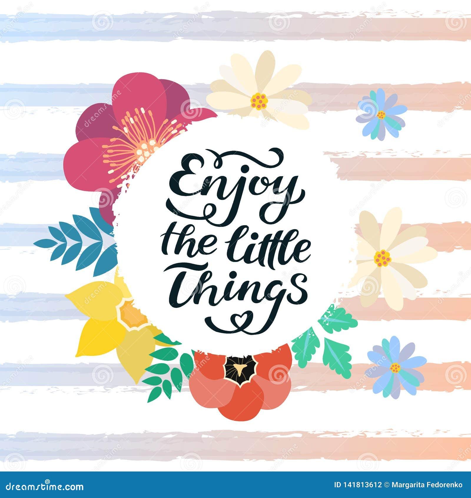 Απολαύστε τη μικρή τυπωμένη ύλη αποσπάσματος πραγμάτων στο διάνυσμα Κίνητρο αποσπασμάτων εγγραφής για τη ζωή και ευτυχία, μοναδικ
