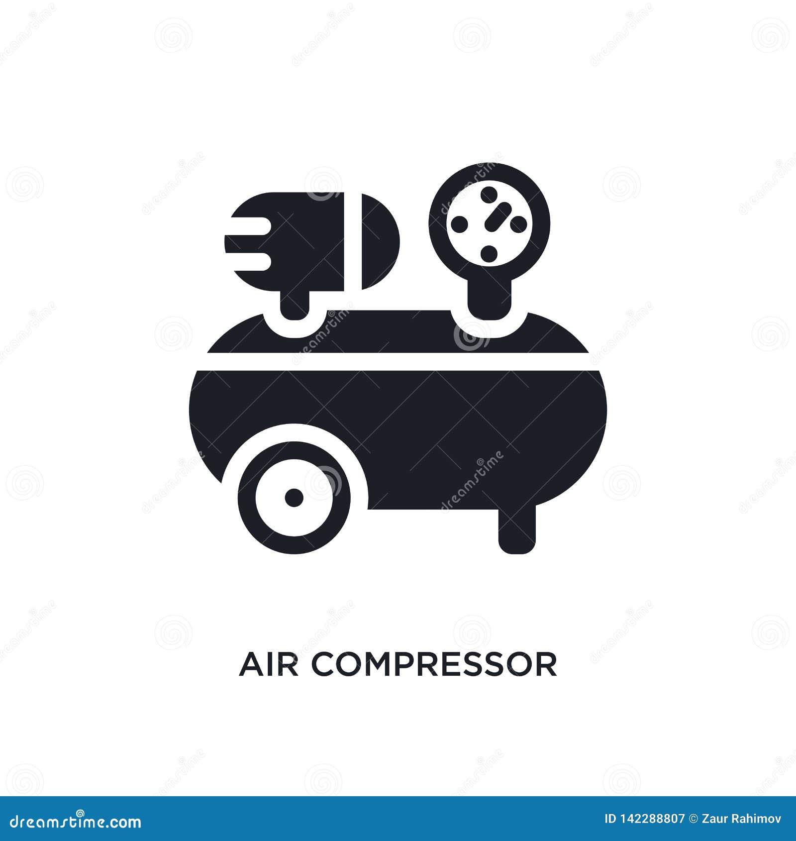 απομονωμένο εικονίδιο αεροσυμπιεστών απλή απεικόνιση στοιχείων από τα εικονίδια έννοιας κατασκευής editable σημάδι λογότυπων αερο