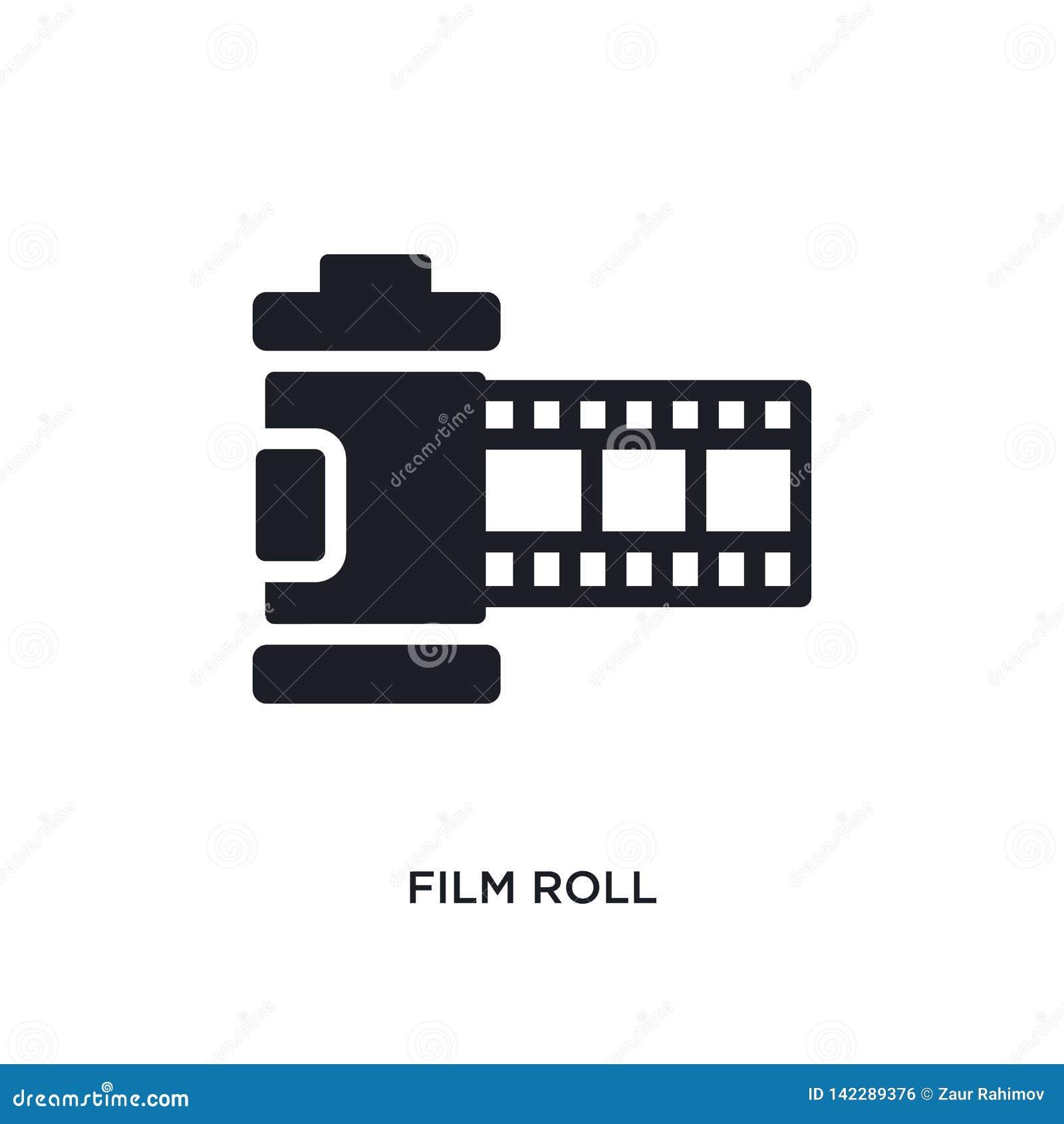 απομονωμένο ρόλος εικονίδιο ταινιών η απλή απεικόνιση στοιχείων από την ηλεκτρονική ουσία γεμίζει τα εικονίδια έννοιας editable σ