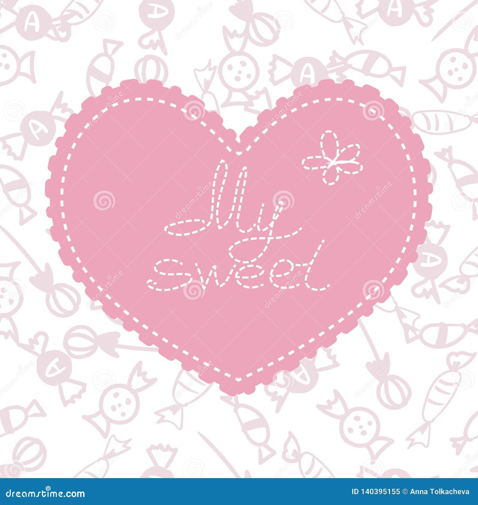 βαλεντίνος μορφής αγάπης καρδιών καρτών