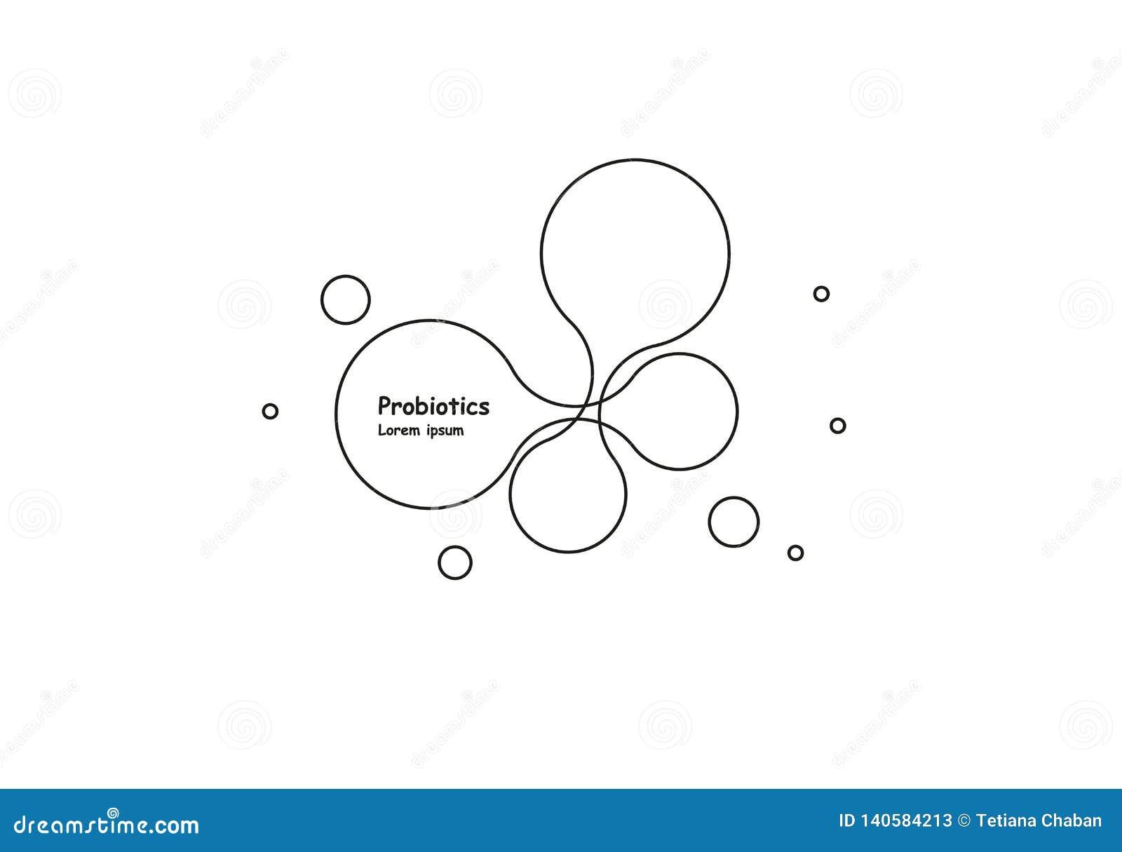βιόκοσμου Μόριο συμβόλων Διανυσματικό πρότυπο λογότυπων Αφηρημένο διανυσματικό πρότυπο μορίων Ανάπτυξη νανοτεχνολογίας