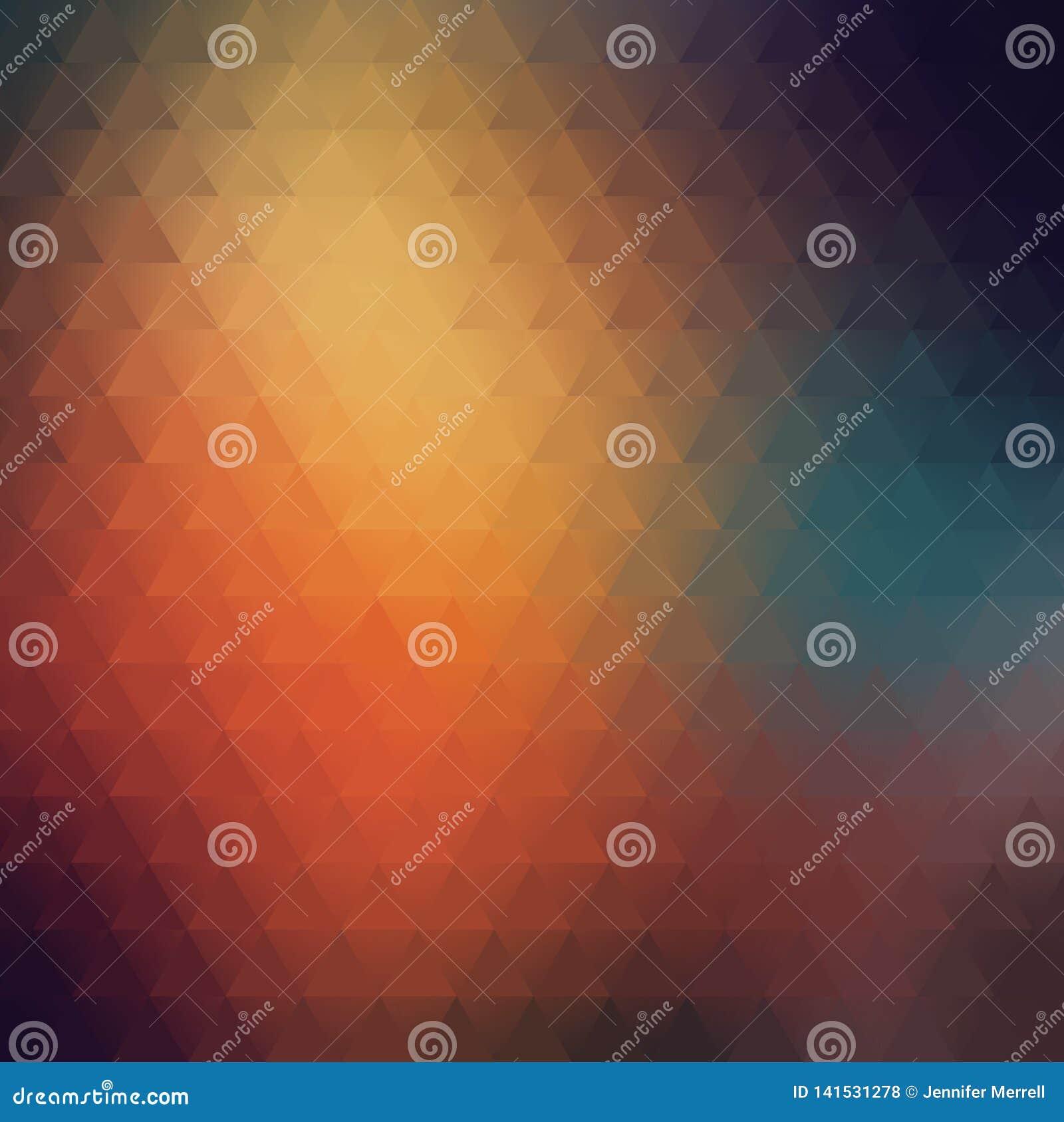 Γεωμετρικό τριγωνικό ζωηρόχρωμο μουτζουρωμένο αφηρημένο υπόβαθρο