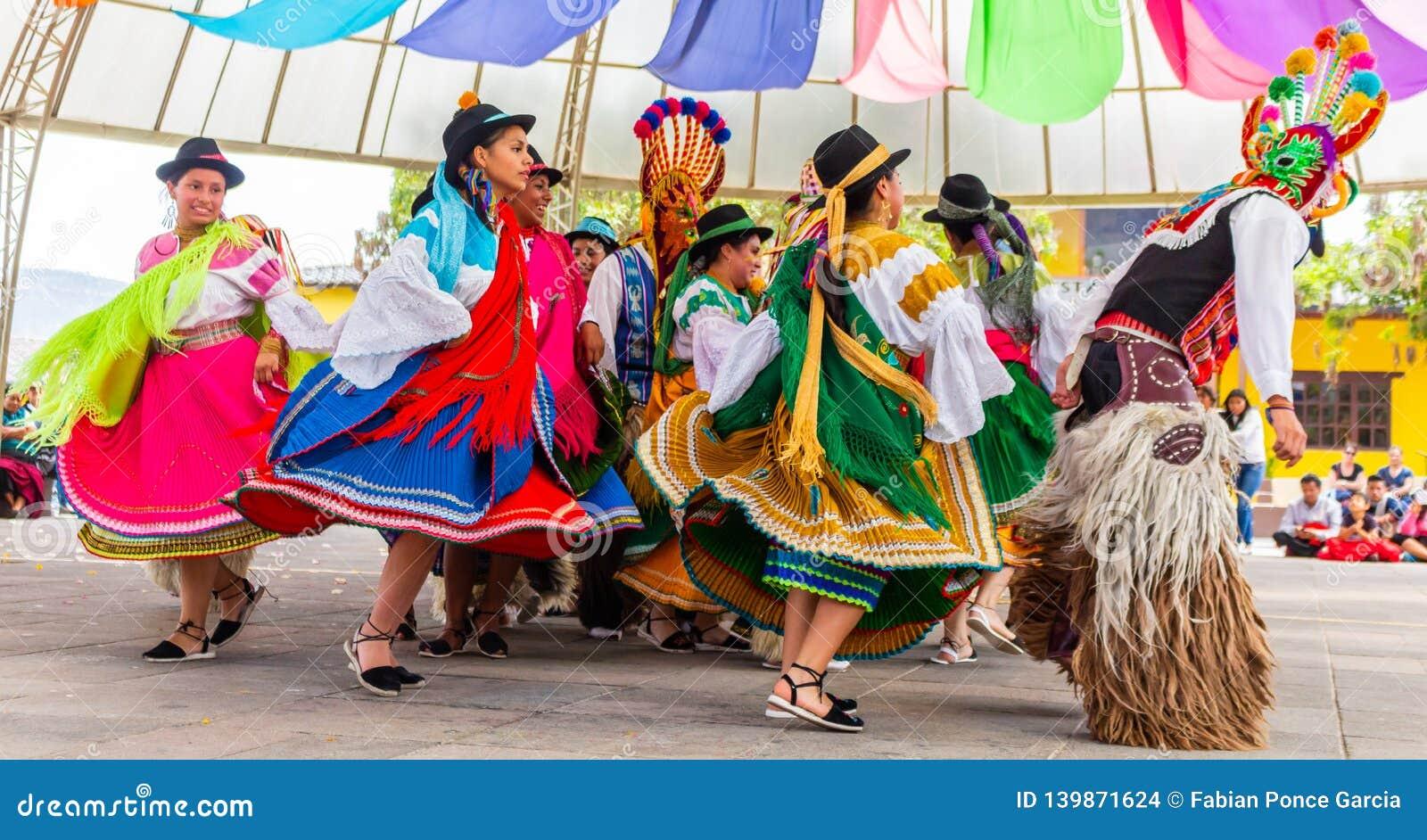 Γηγενείς χορευτές του Ισημερινού