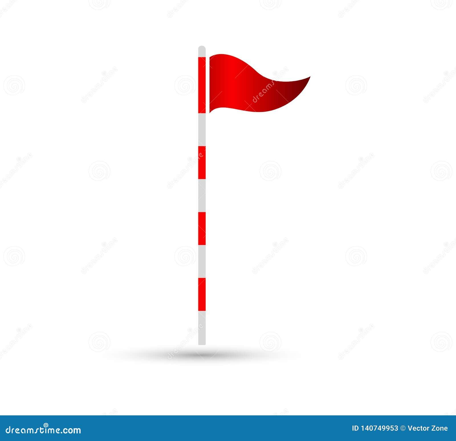 Γκολφ επίπεδο σημάδι εικονιδίων σημαιών το διανυσματικό, μπορεί εύκολα να εκδοθεί