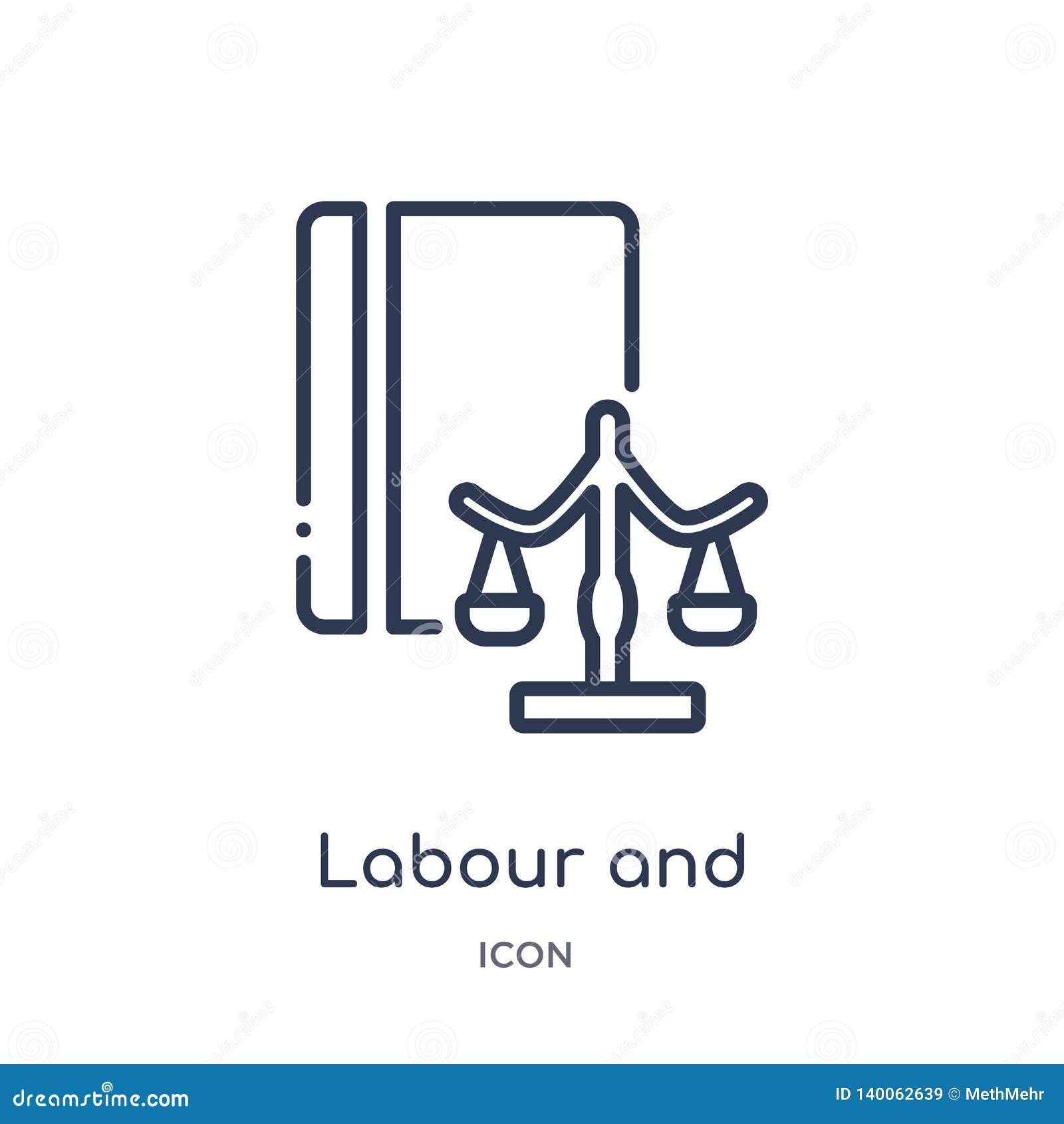 Γραμμική εργασία και κοινωνικό εικονίδιο νόμου από τη συλλογή περιλήψεων νόμου και δικαιοσύνης Λεπτή εργασία γραμμών και κοινωνικ