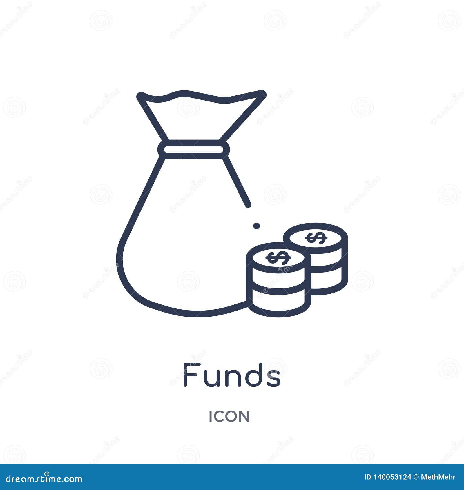 Γραμμικό εικονίδιο κεφαλαίων από την οικονομία Cryptocurrency και τη συλλογή περιλήψεων χρηματοδότησης Λεπτό διάνυσμα κεφαλαίων γ