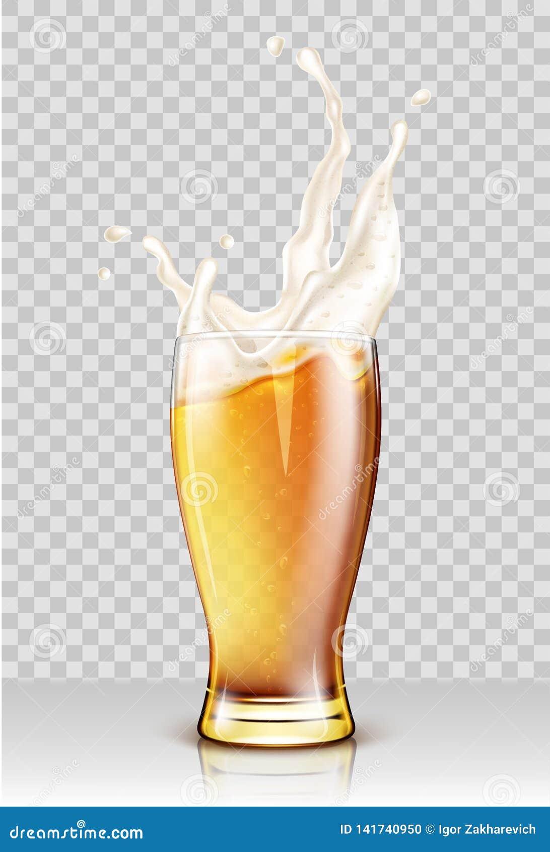 Γυαλί με το ράντισμα της μπύρας