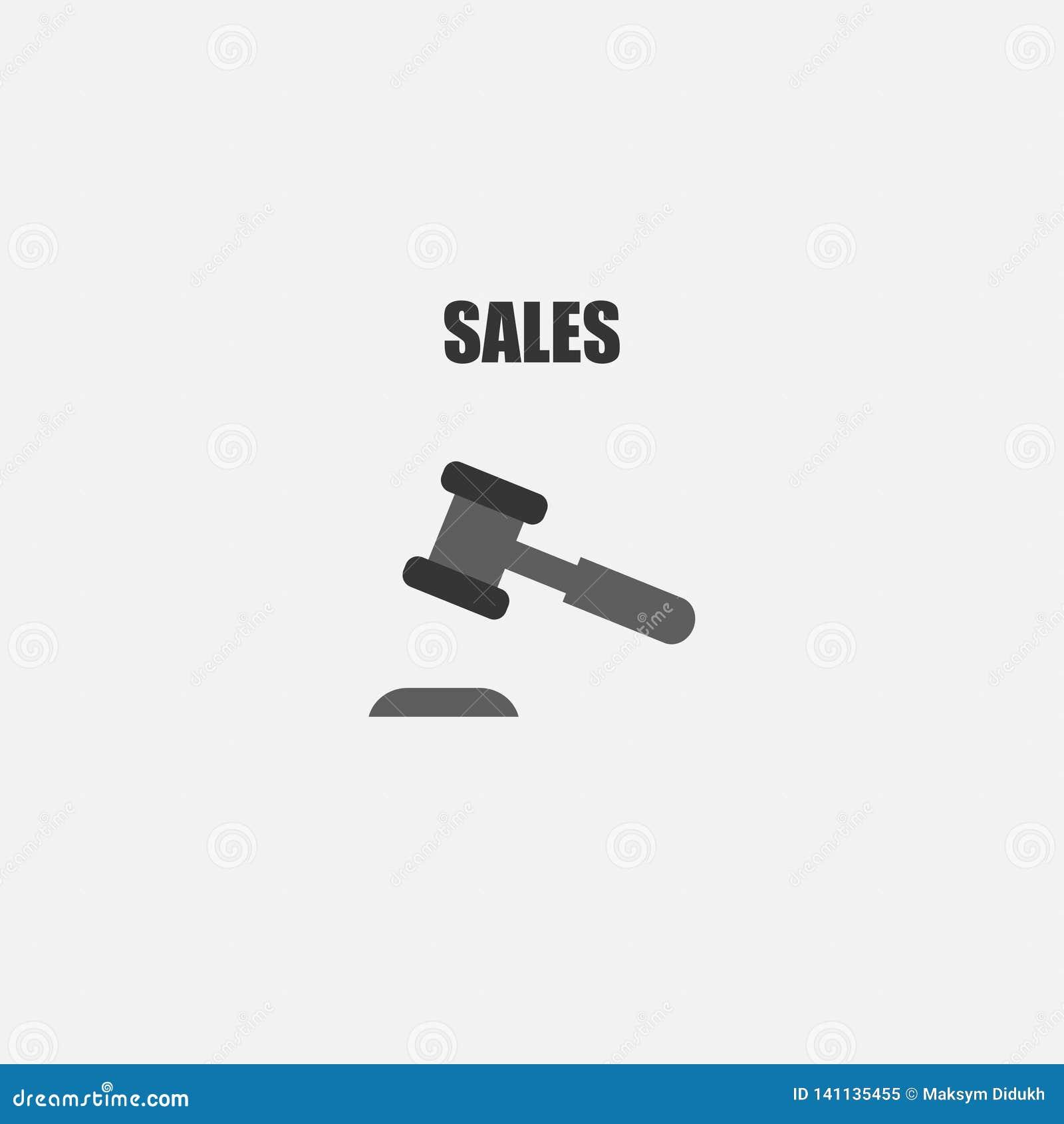 εικονίδιο δημοπρασίας Σφυρί Πώληση επίσης corel σύρετε το διάνυσμα απεικόνισης 10 eps