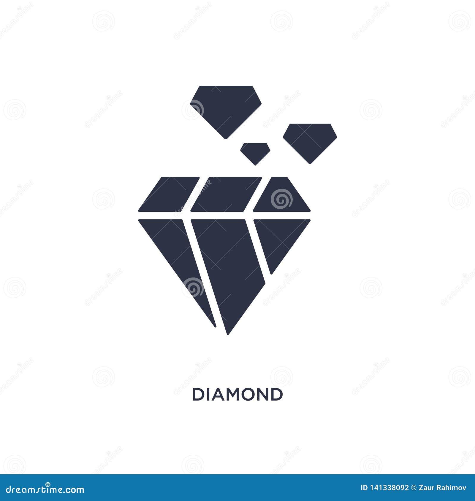Εικονίδιο διαμαντιών στο άσπρο υπόβαθρο Απλή απεικόνιση στοιχείων από την έννοια εξυπηρέτησης πελατών