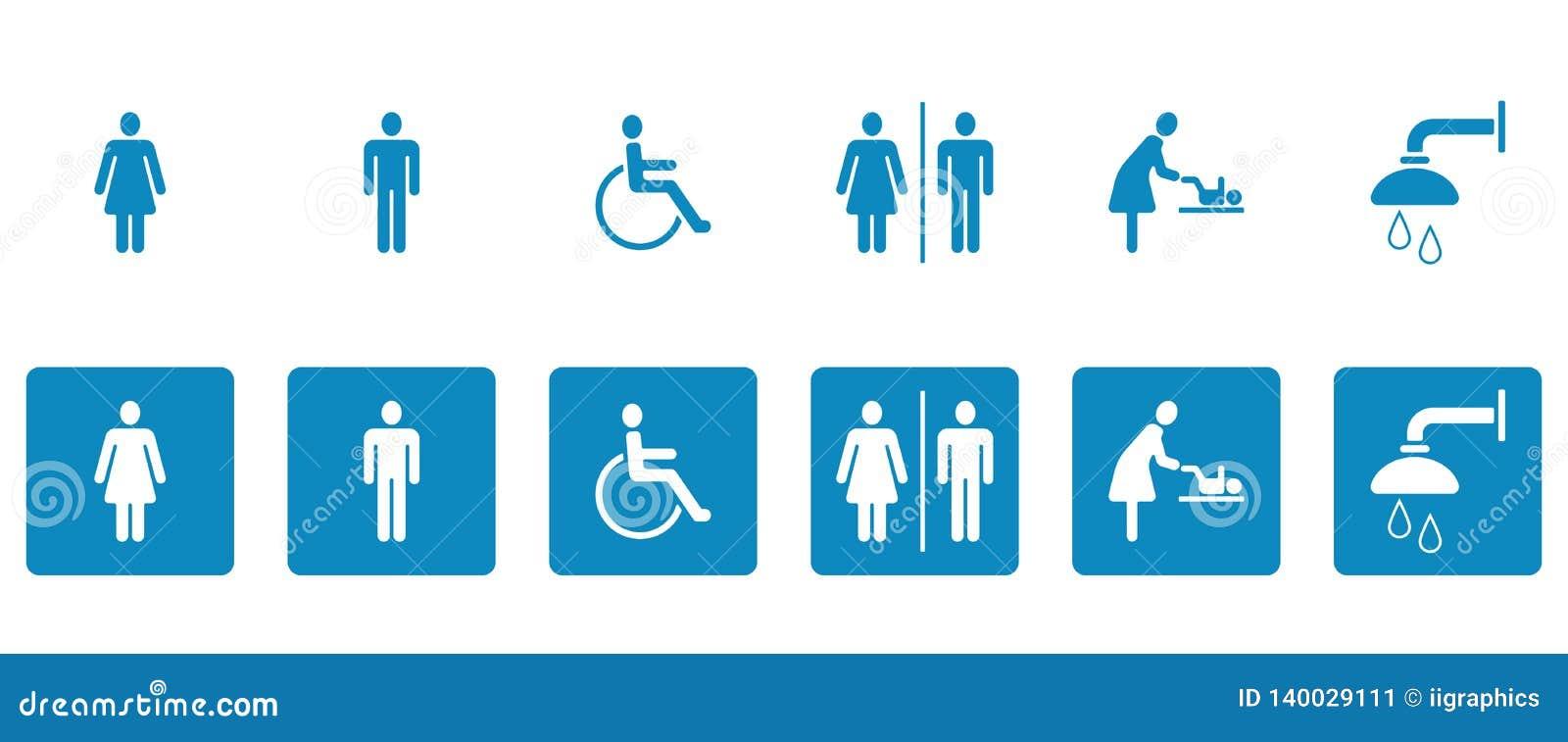 Εικονογράμματα WC & τουαλετών - Iconset
